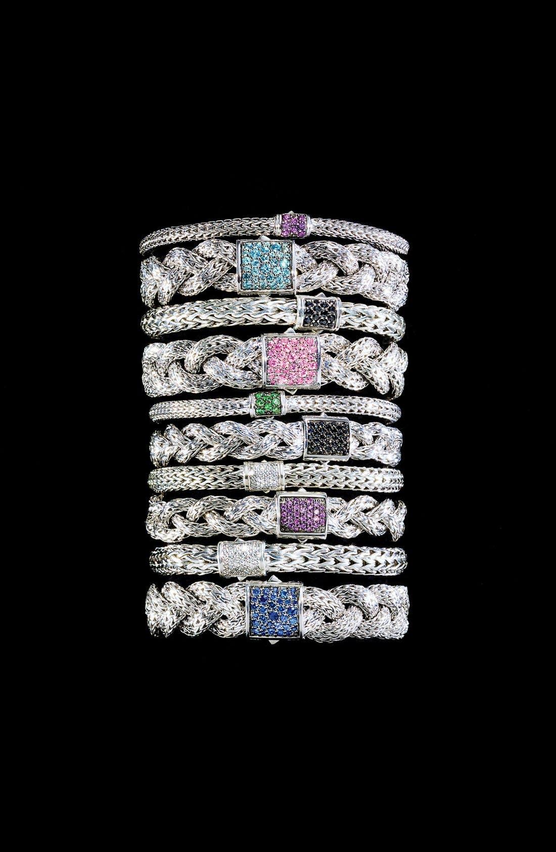 'Classic Chain' Medium Braided Bracelet,                             Alternate thumbnail 5, color,