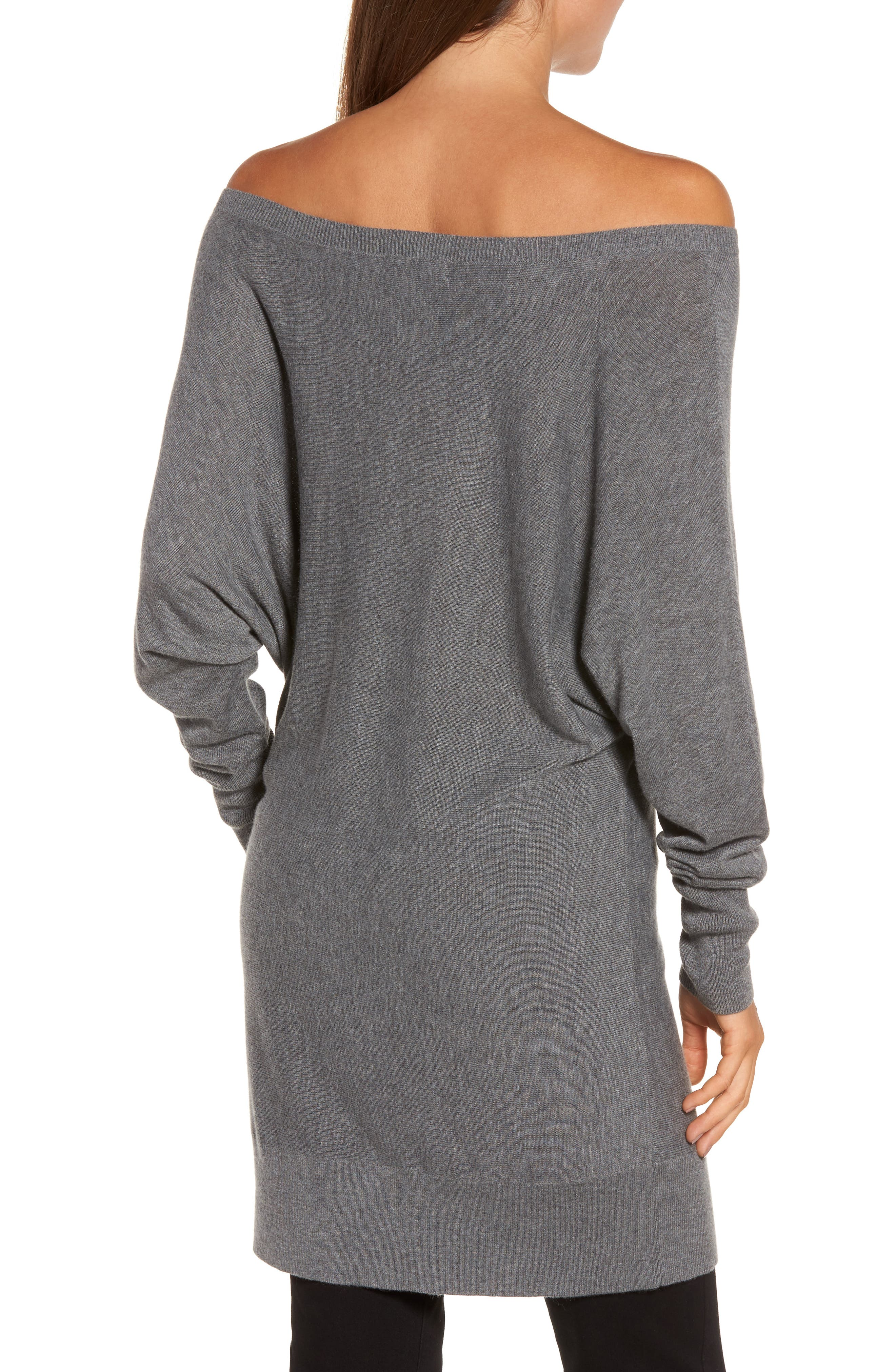 Off the Shoulder Sweater Tunic,                             Alternate thumbnail 8, color,