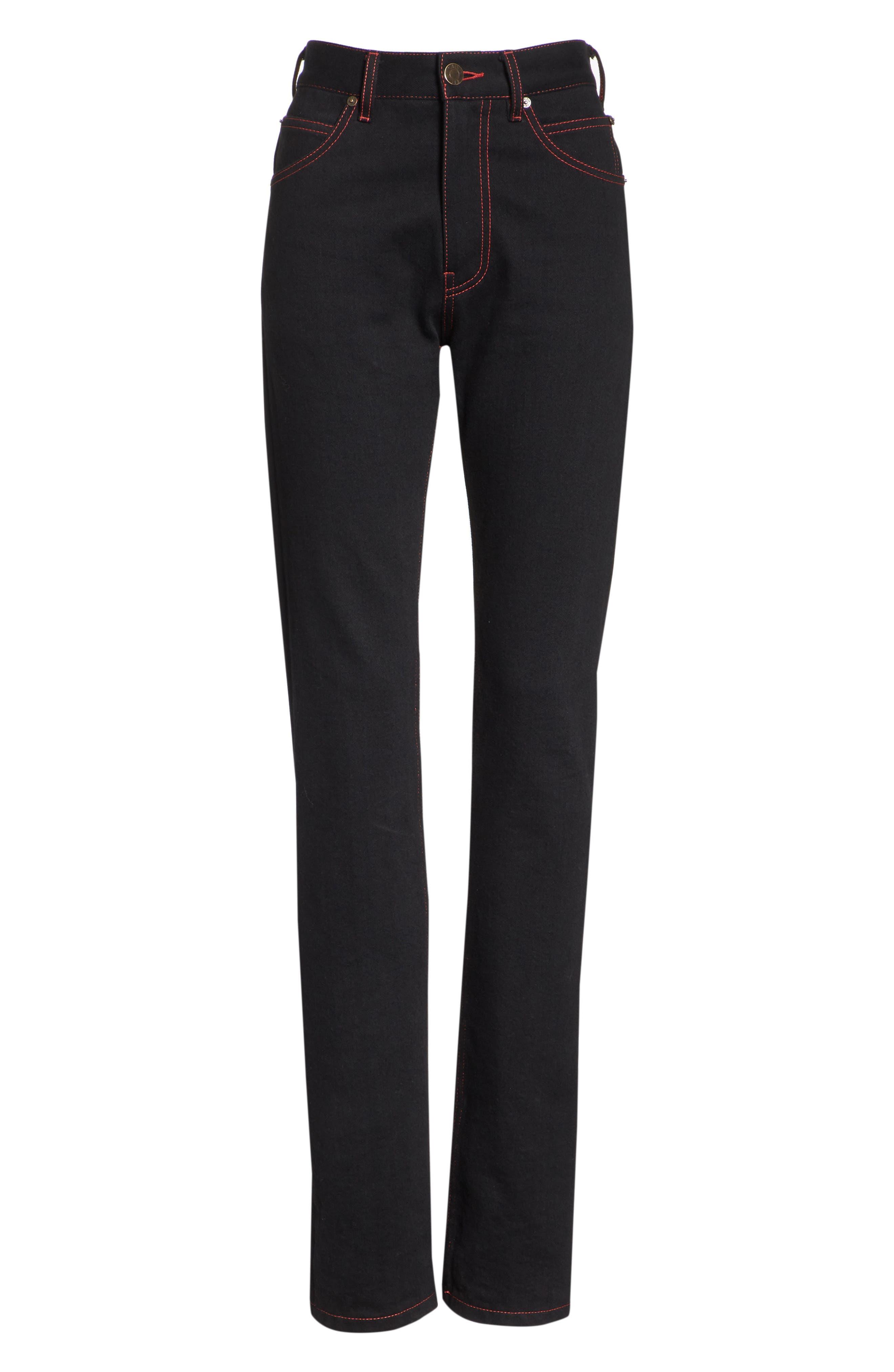 x Andy Warhol Foundation Dennis Hopper Straight Leg Jeans,                             Alternate thumbnail 6, color,                             BLACK