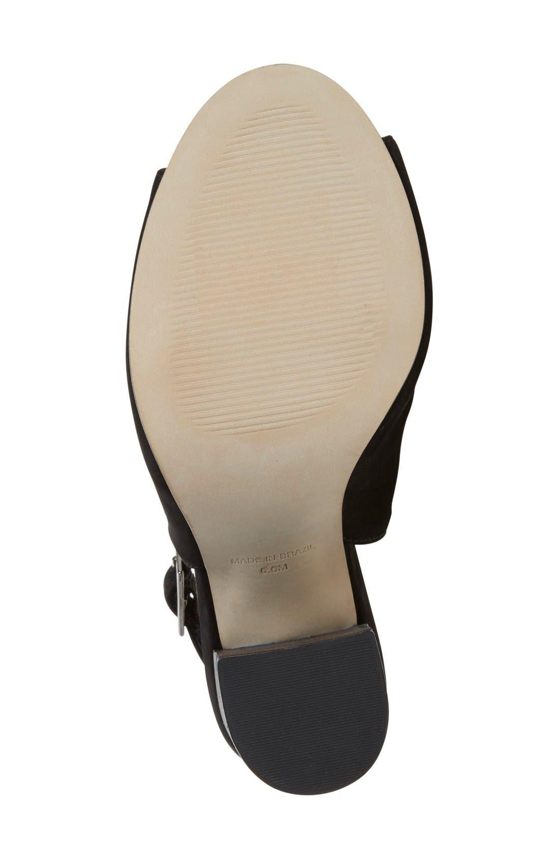 'Claara' Block Heel Sandal,                             Alternate thumbnail 4, color,                             005