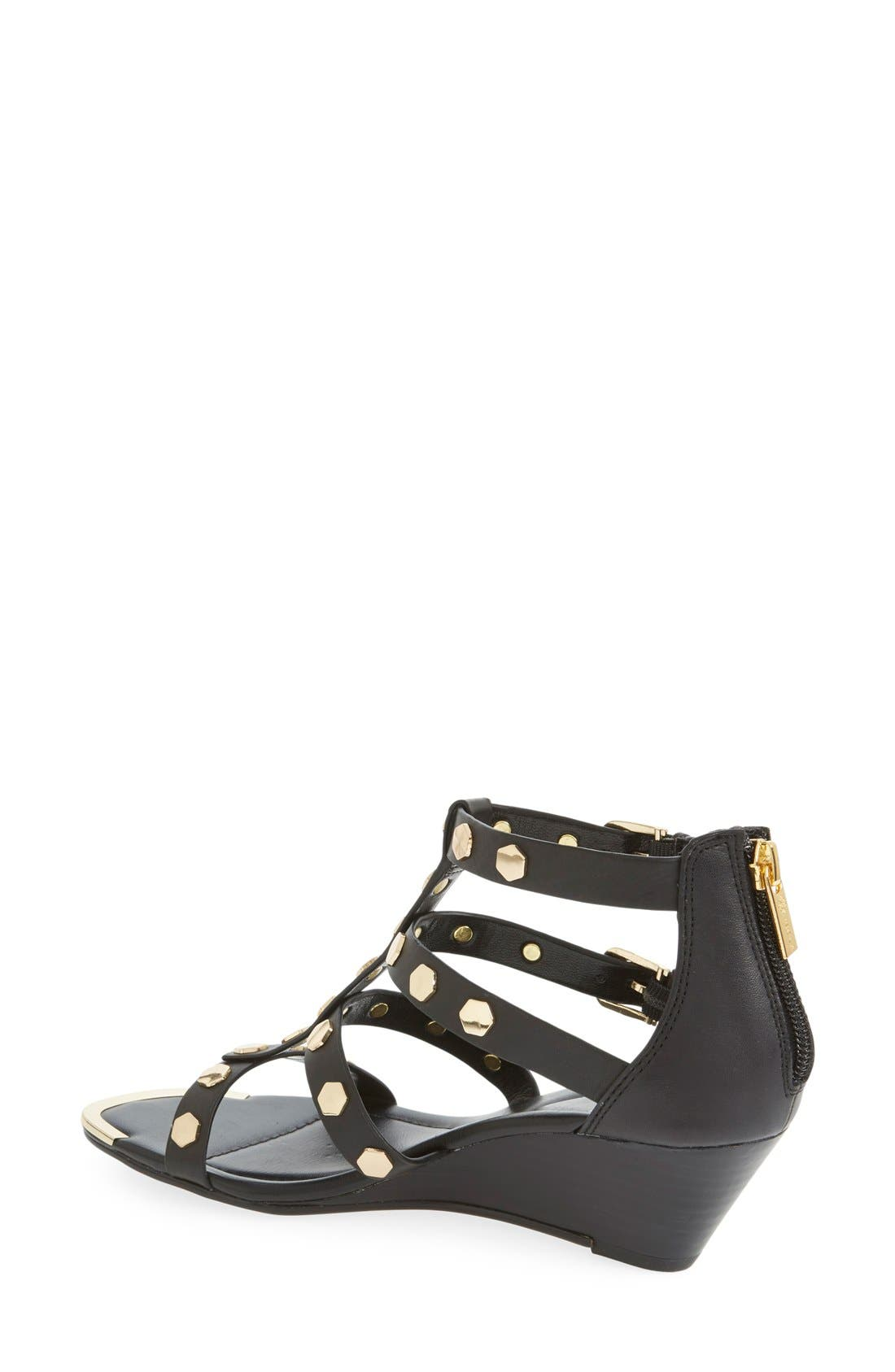 ISOLÁ,                             'Primrose' Wedge Sandal,                             Alternate thumbnail 3, color,                             001