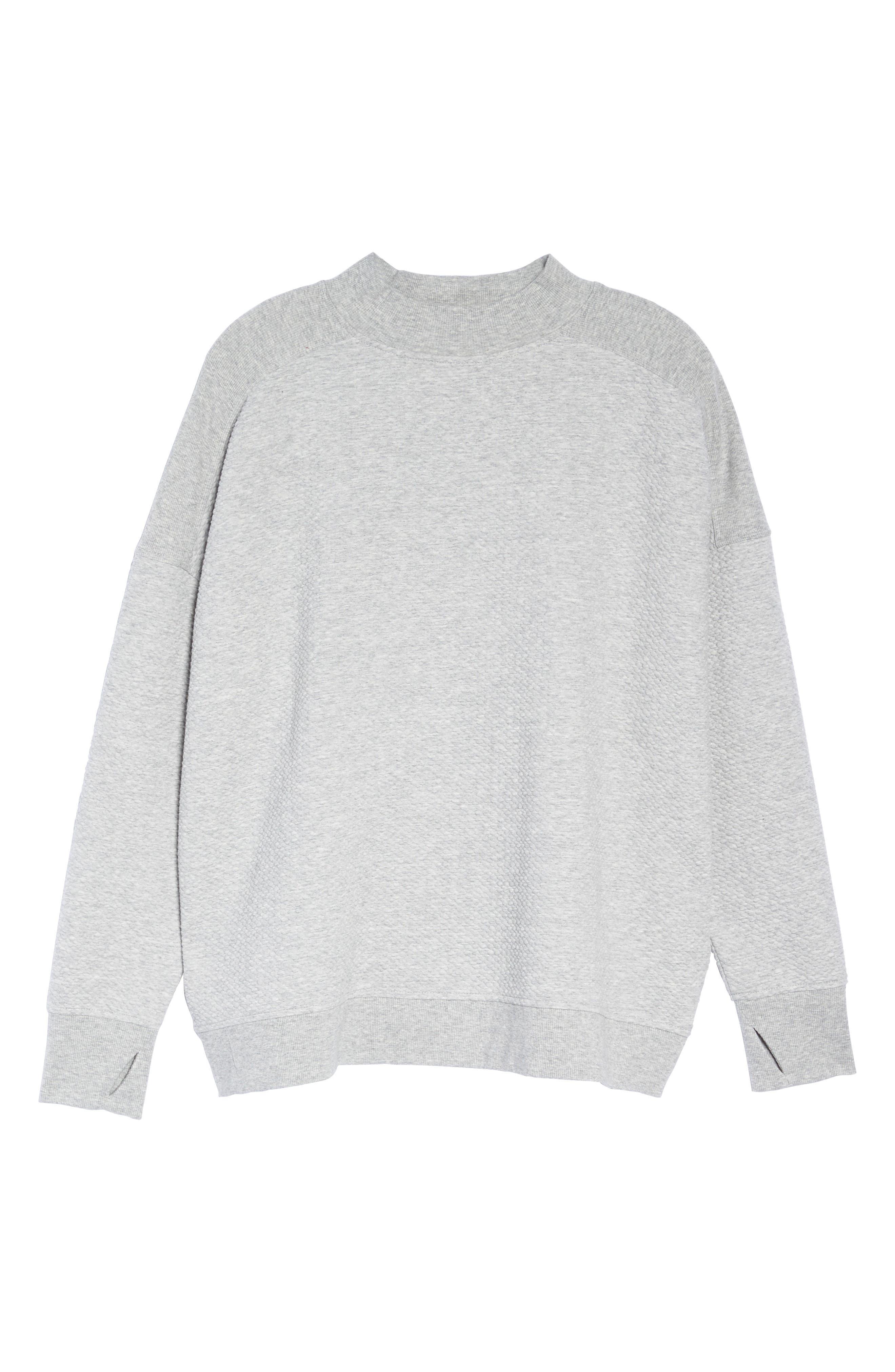 Textured Sweatshirt,                             Alternate thumbnail 6, color,                             050