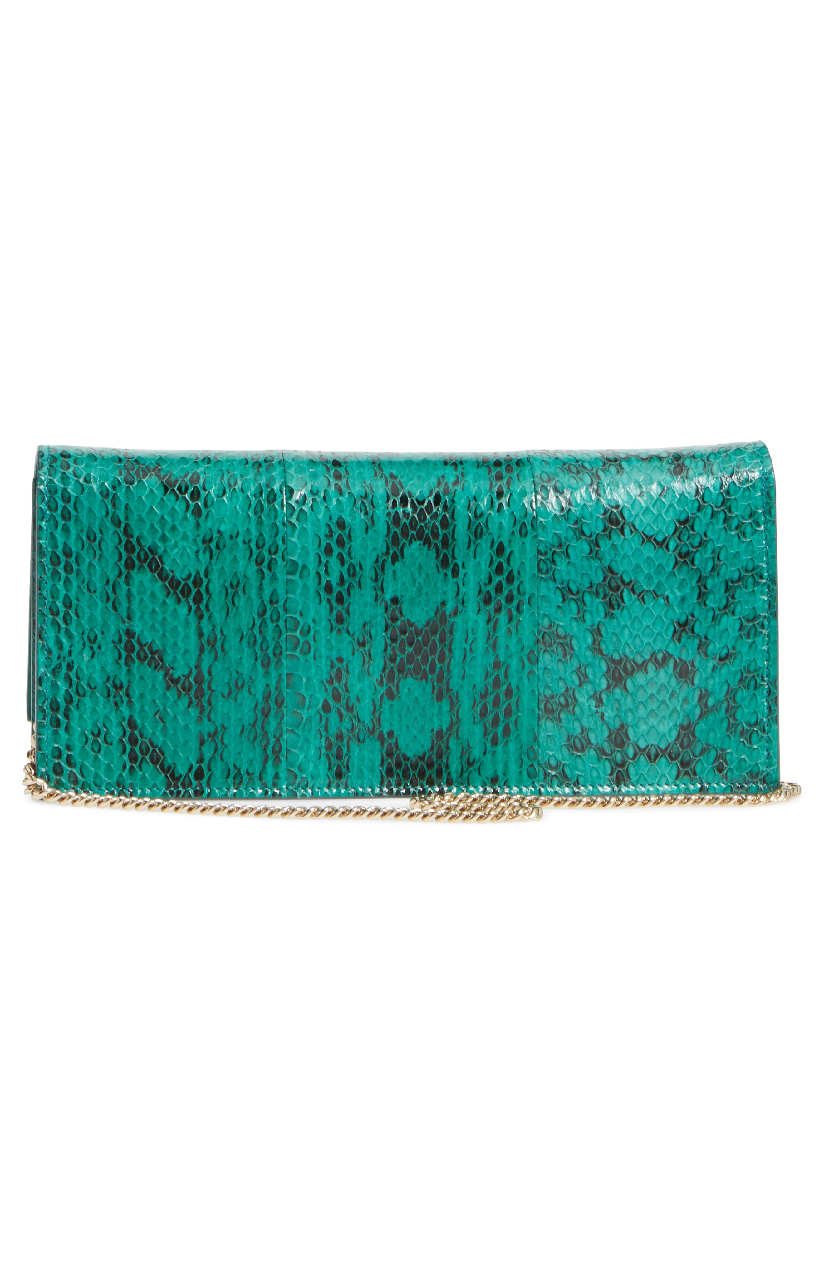 Fie Genuine Snakeskin Clutch,                             Alternate thumbnail 3, color,                             300