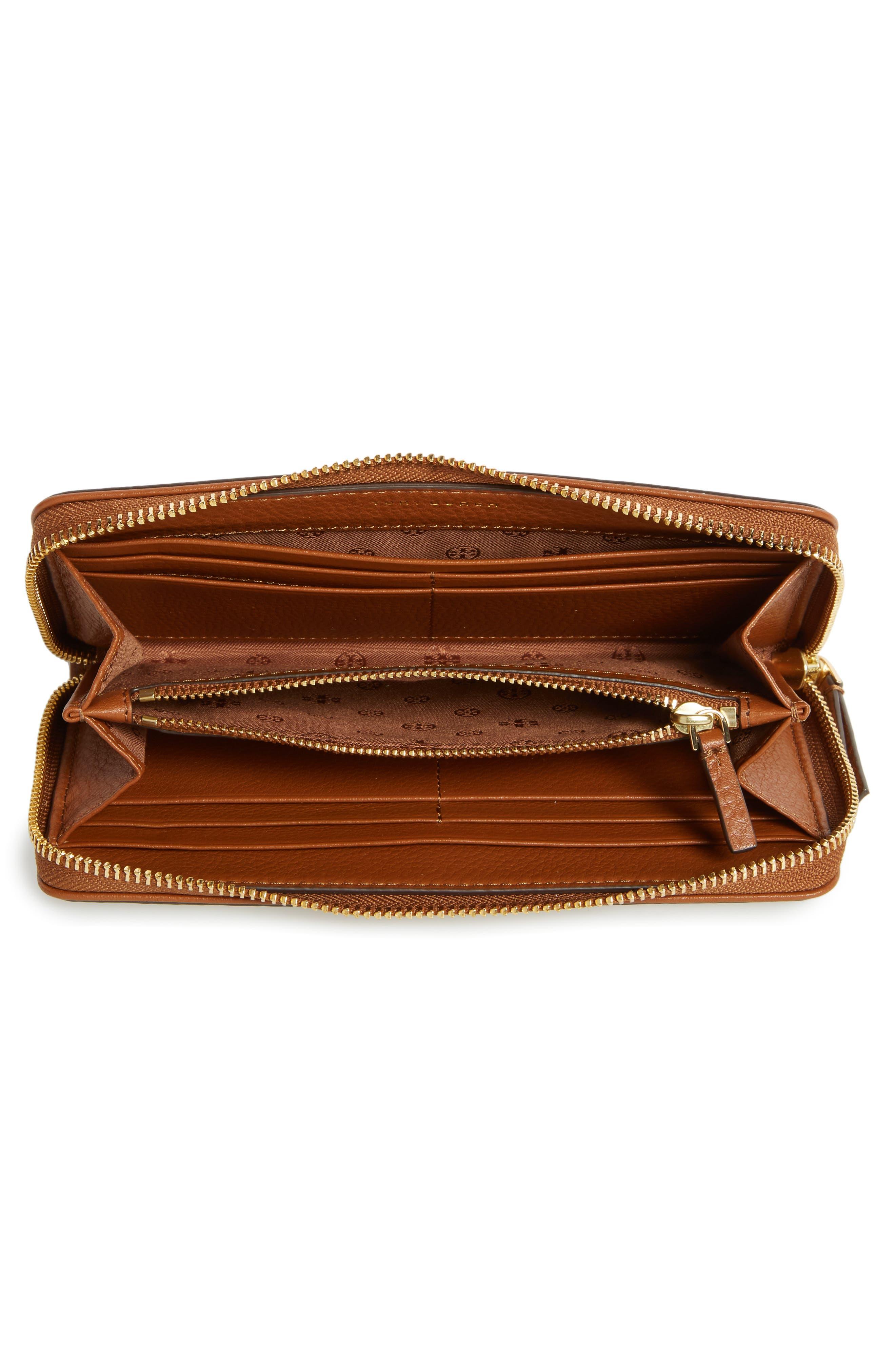 Marsden Leather Zip Around Wallet,                             Alternate thumbnail 11, color,