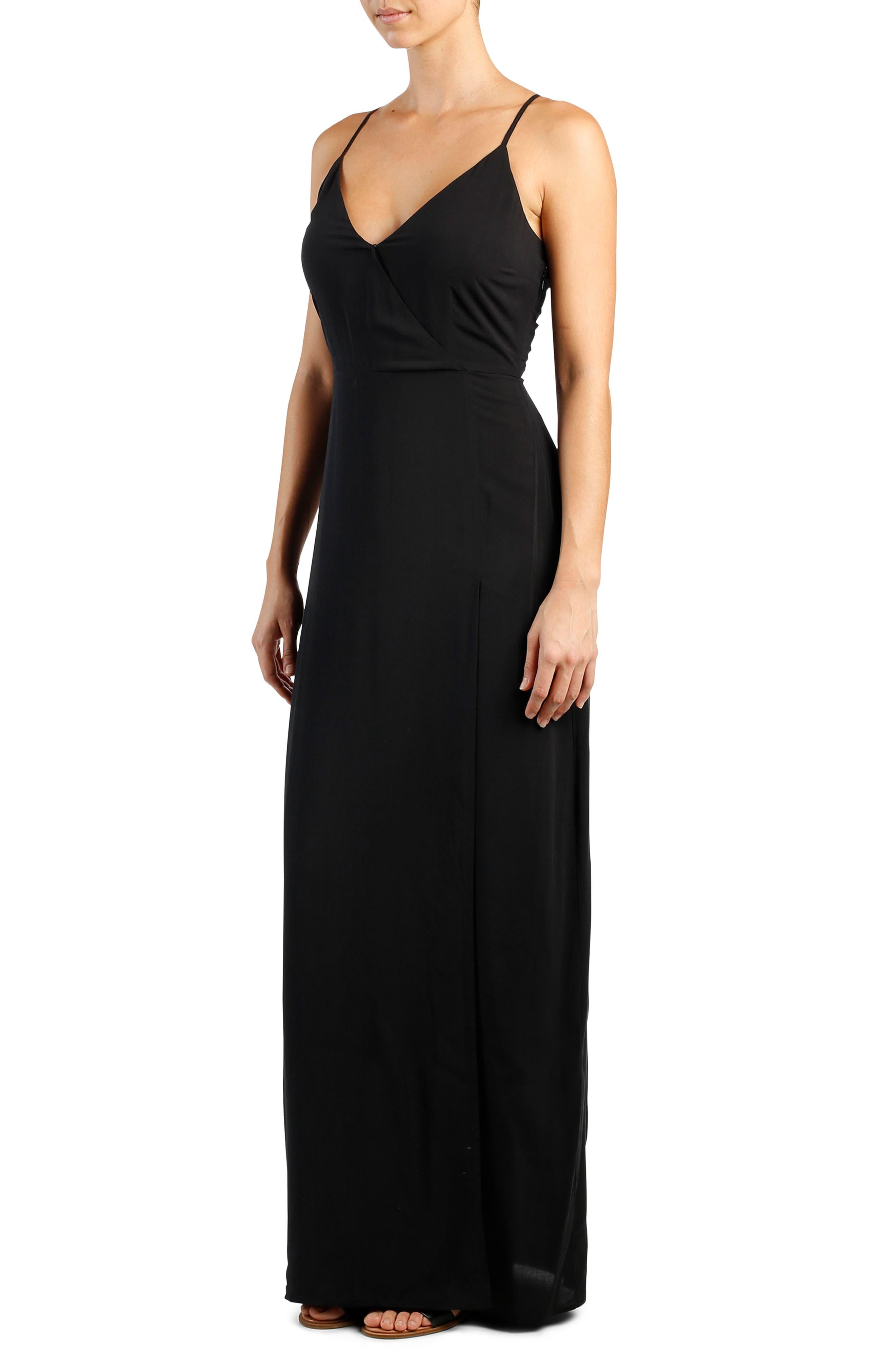 Regina Maxi Dress,                             Alternate thumbnail 5, color,                             001