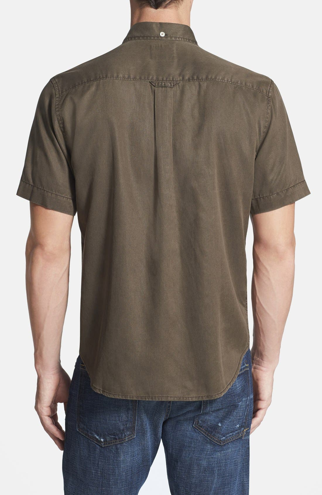 'New Twilly' Island Modern Fit Short Sleeve Twill Shirt,                             Alternate thumbnail 31, color,