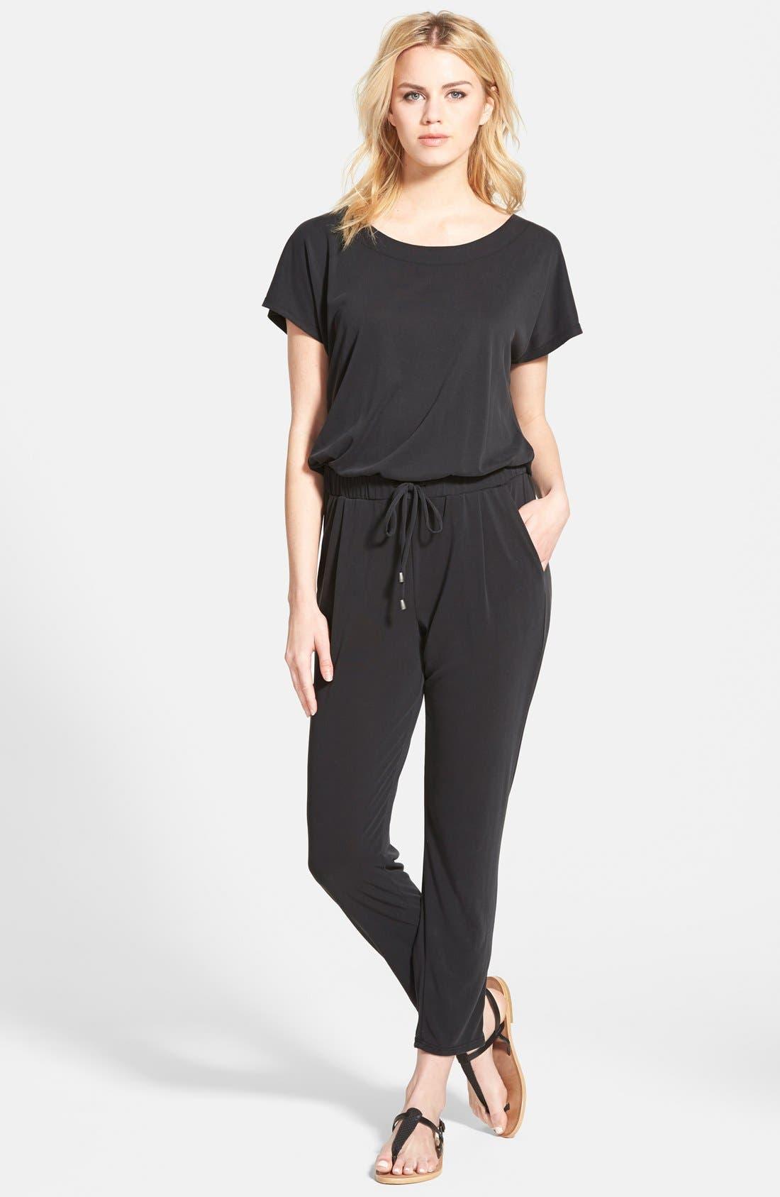 Short Sleeve Jumpsuit,                         Main,                         color,