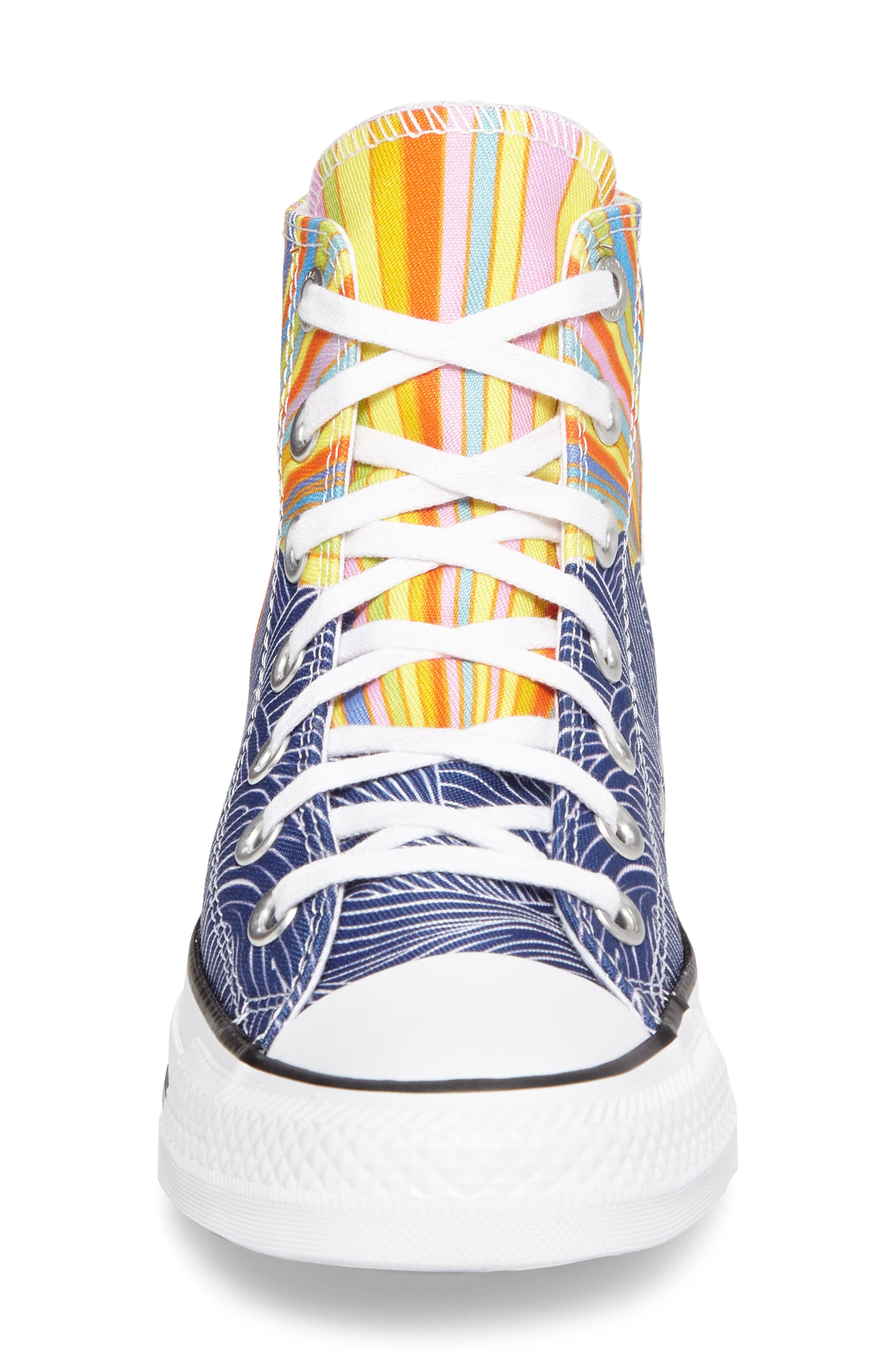 x Mara Hoffman All Star<sup>®</sup> Embroidered High Top Sneaker,                             Alternate thumbnail 7, color,