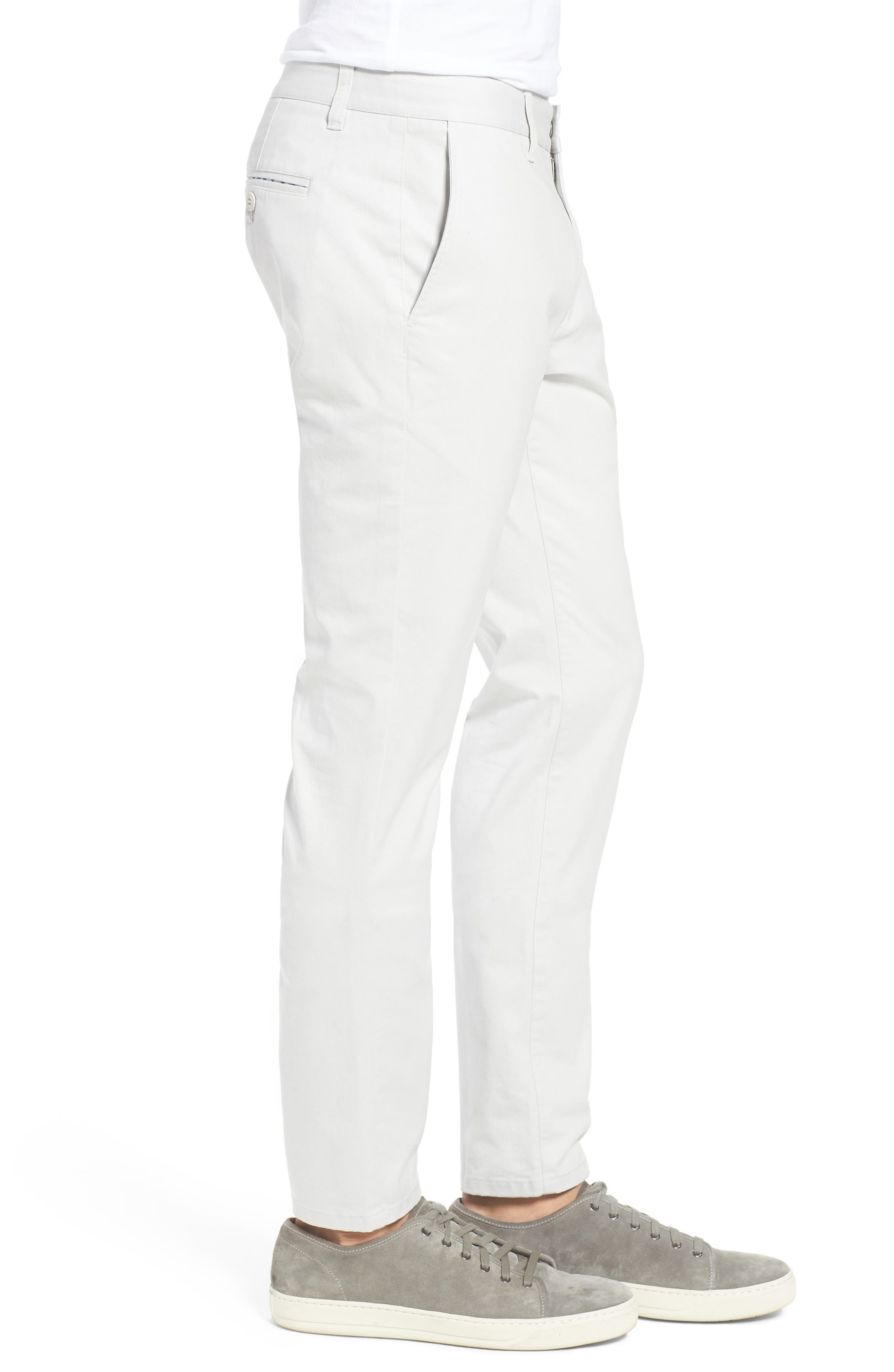 Tailored Fit Washed Stretch Cotton Chinos,                             Alternate thumbnail 96, color,
