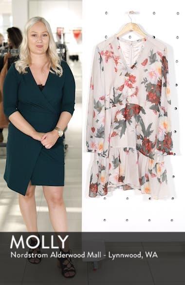Rosa Floral Chiffon Minidress, sales video thumbnail