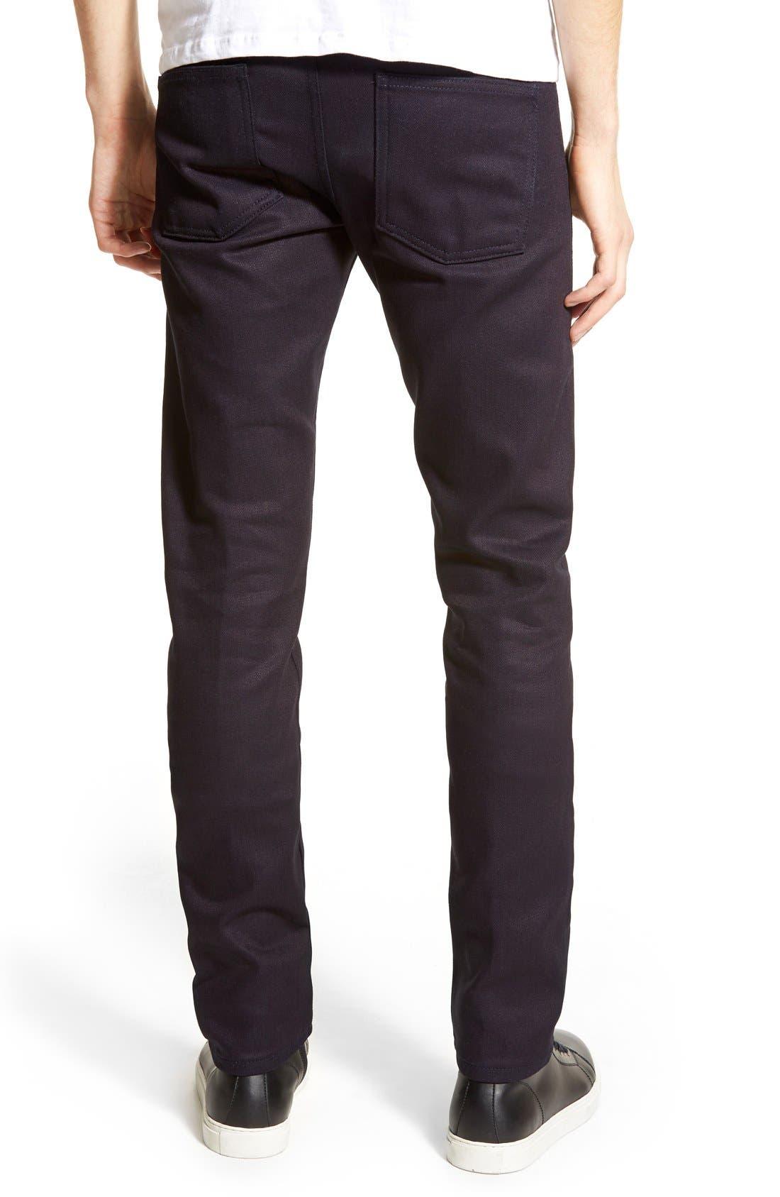 Super Skinny Guy Skinny Fit Jeans,                             Alternate thumbnail 4, color,                             INDIGO STRETCH SELVEDGE