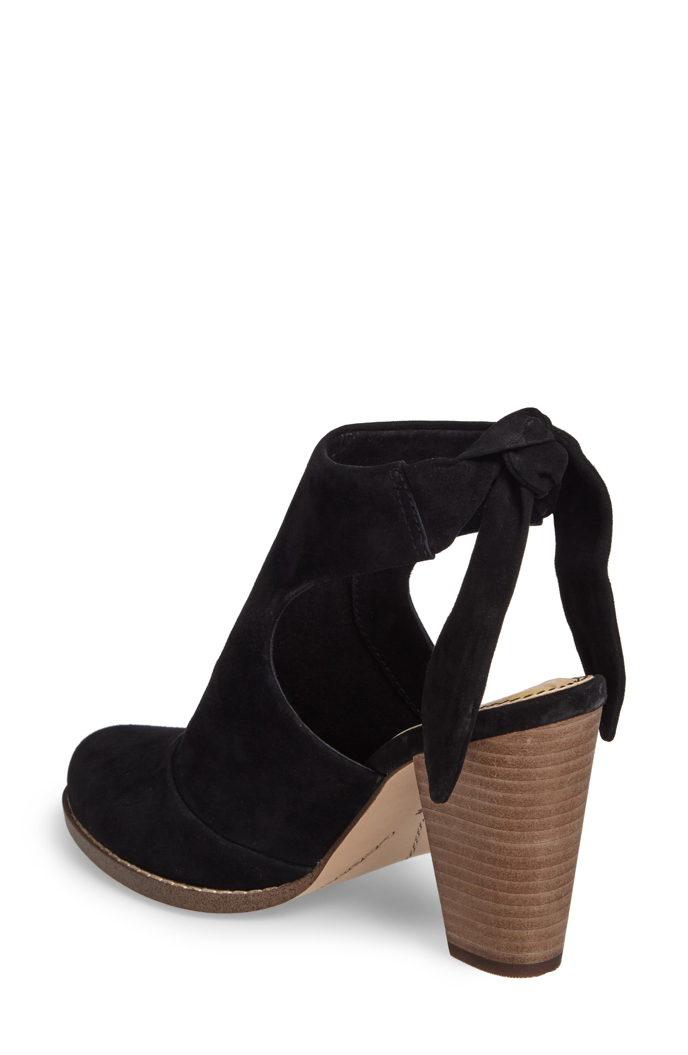 Danae Stacked Heel Bootie,                             Alternate thumbnail 2, color,                             013