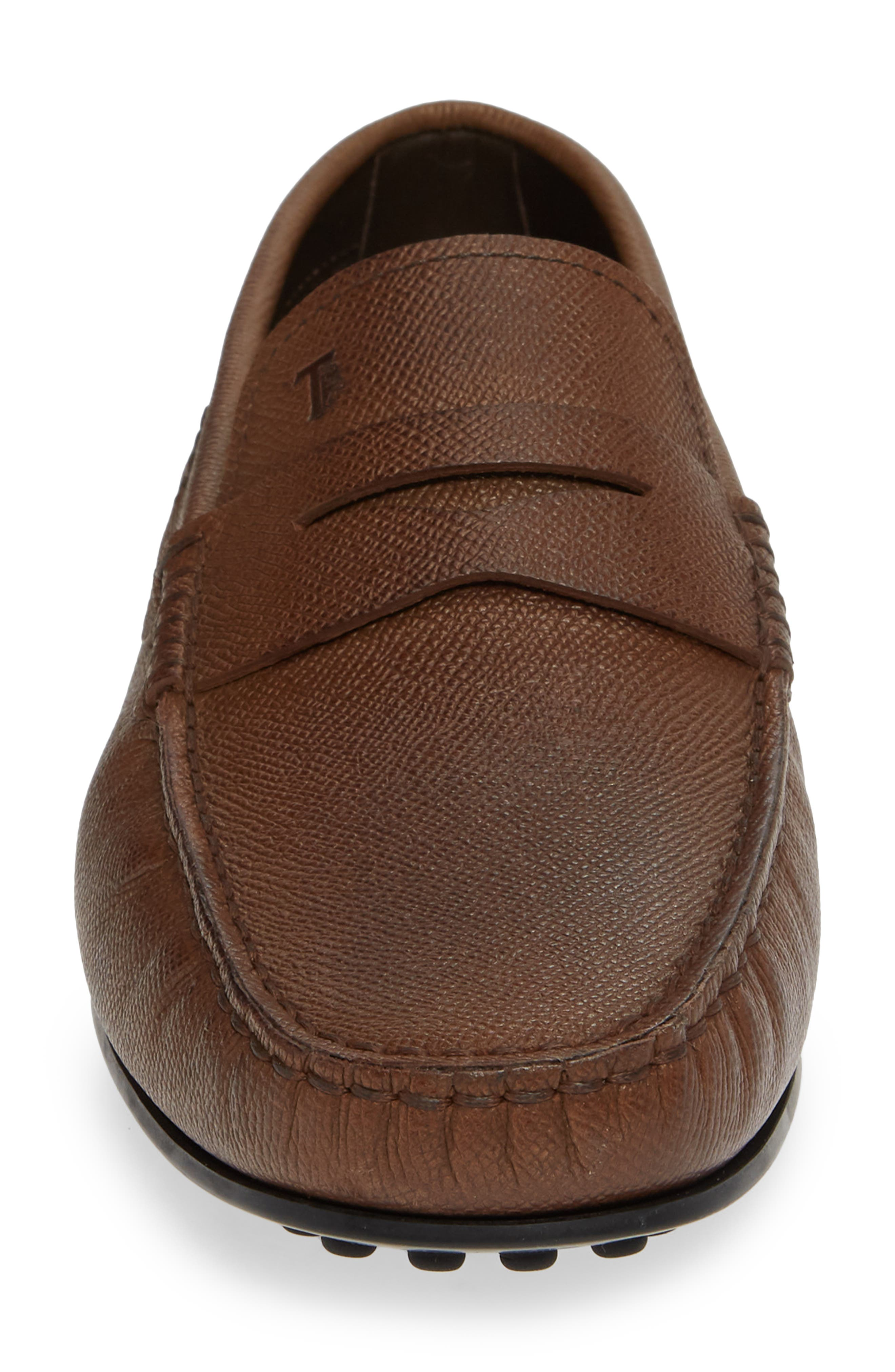 TOD'S,                             'City' Penny Driving Shoe,                             Alternate thumbnail 4, color,                             BROWN