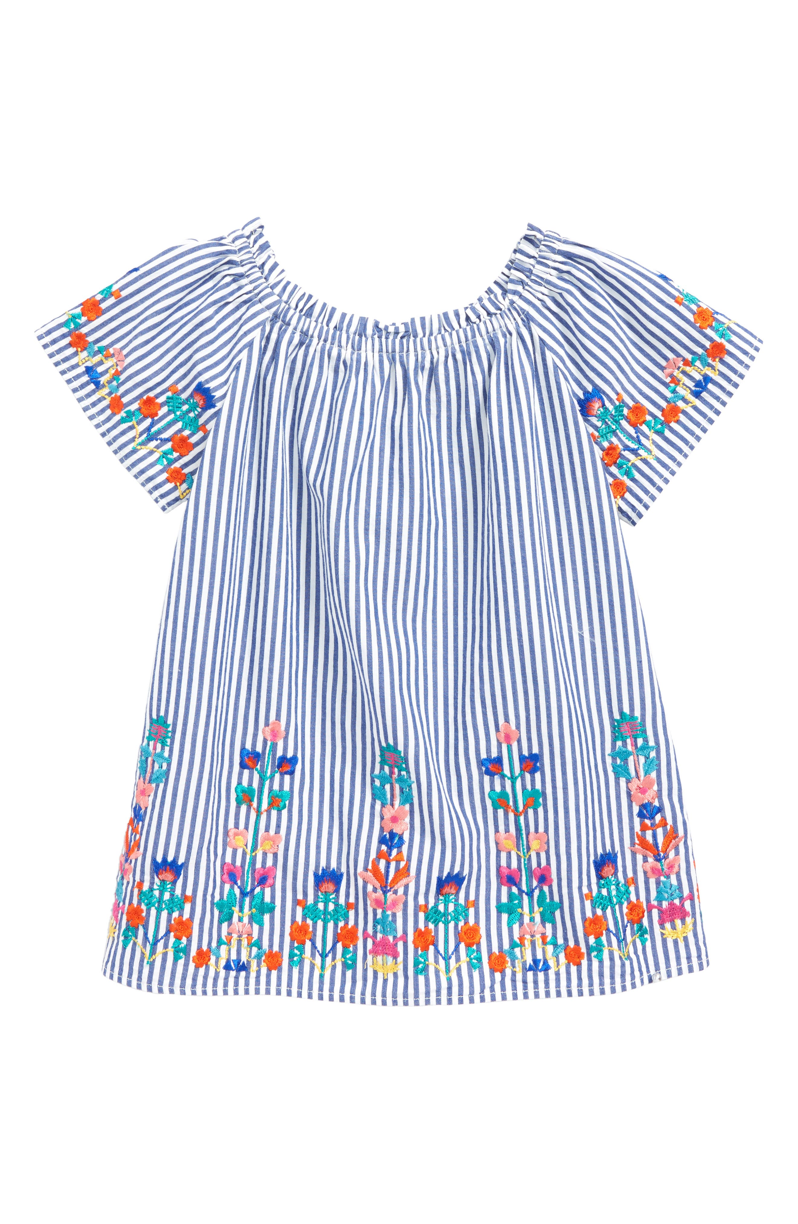 Christina Embroidered Stripe Dress,                         Main,                         color,