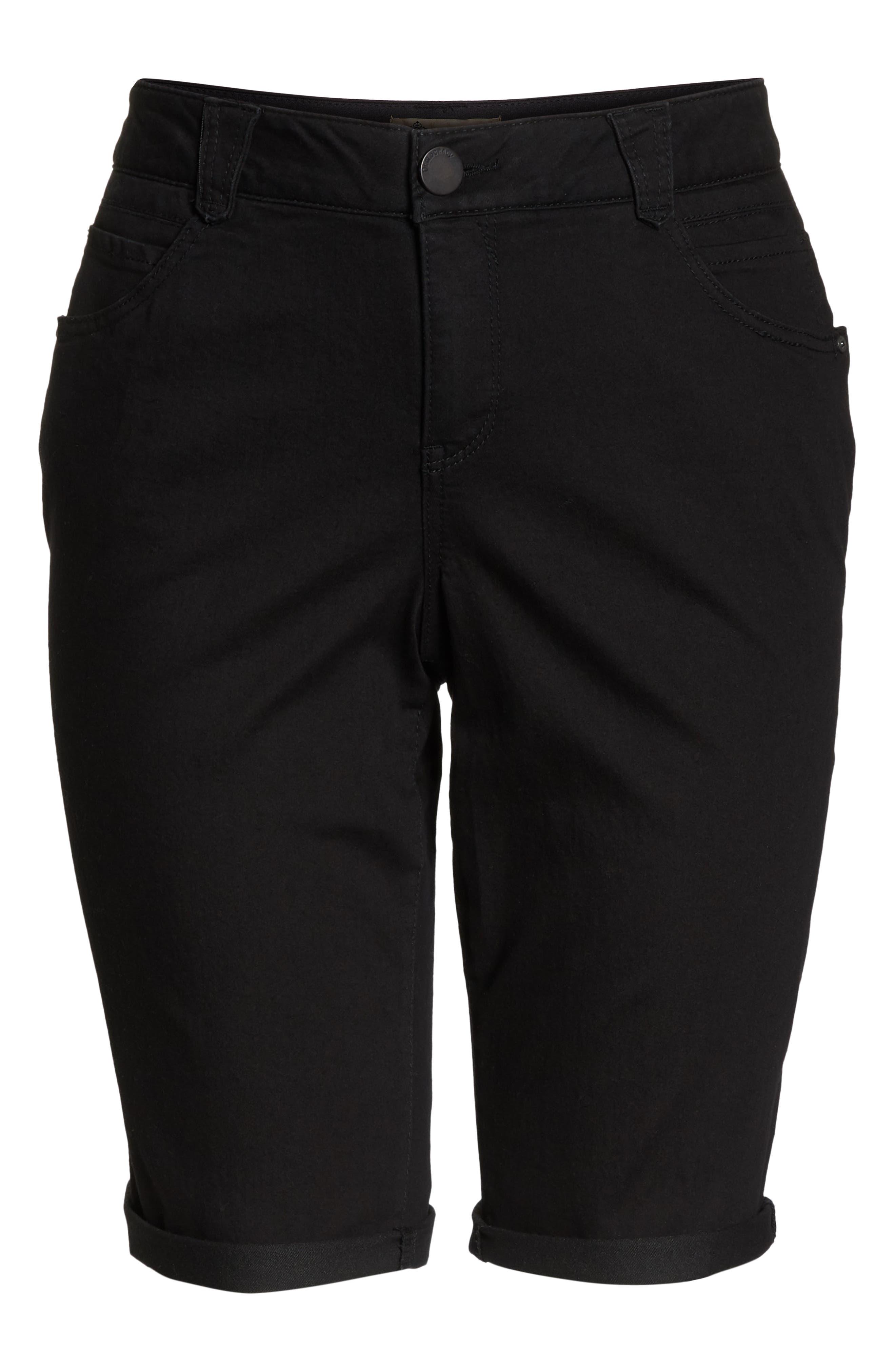 Ab-Solution Denim Shorts,                             Alternate thumbnail 6, color,                             BLACK