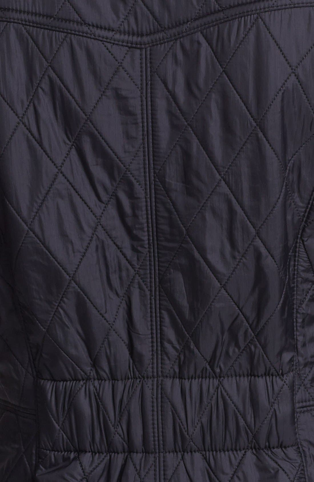 'Cavalry' Quilted Jacket,                             Alternate thumbnail 9, color,                             001