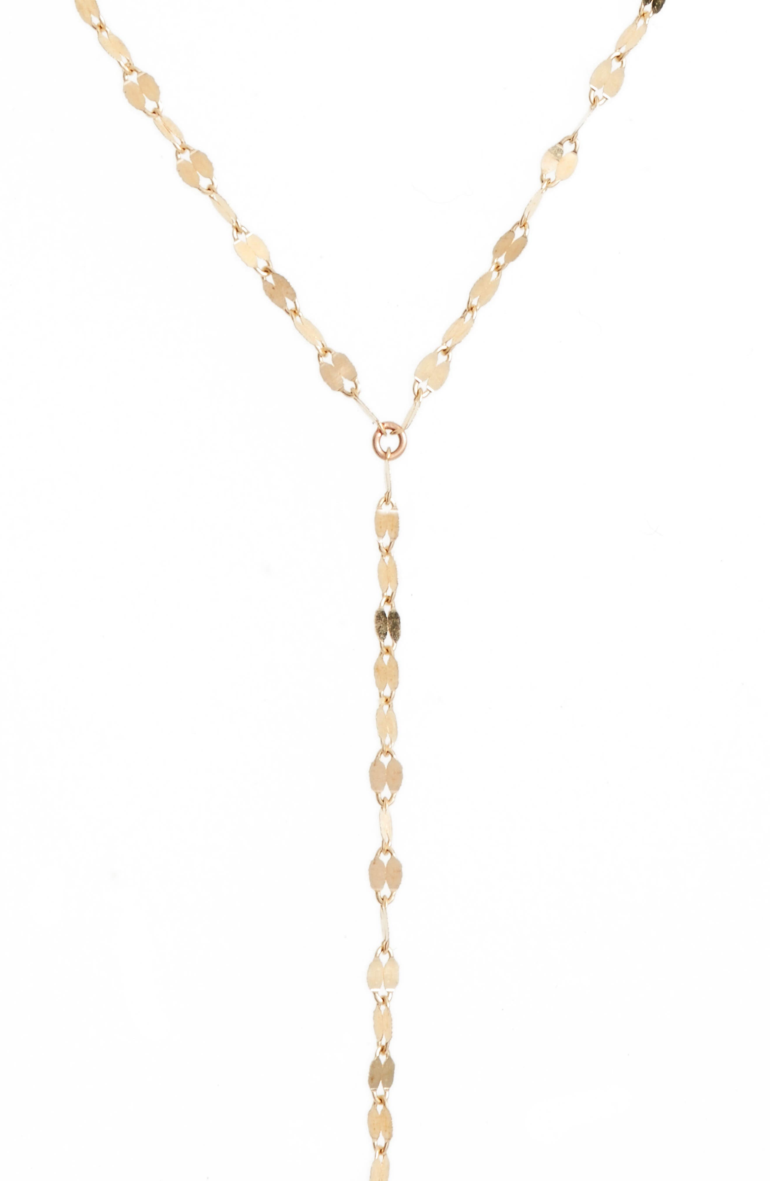 Y-Necklace,                             Main thumbnail 1, color,                             YELLOW GOLD
