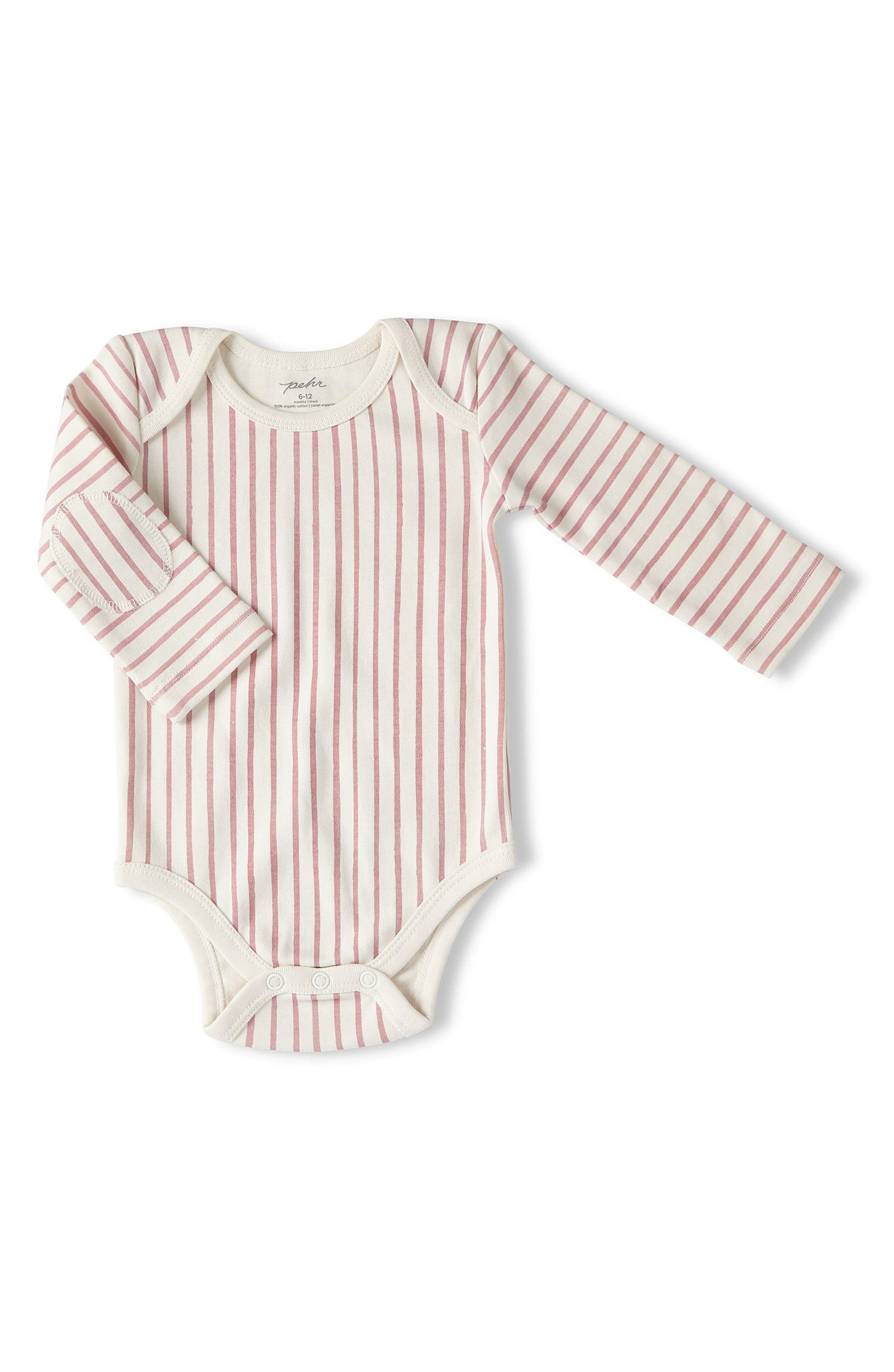 Stripes Away Bodysuit, Main, color, PINK
