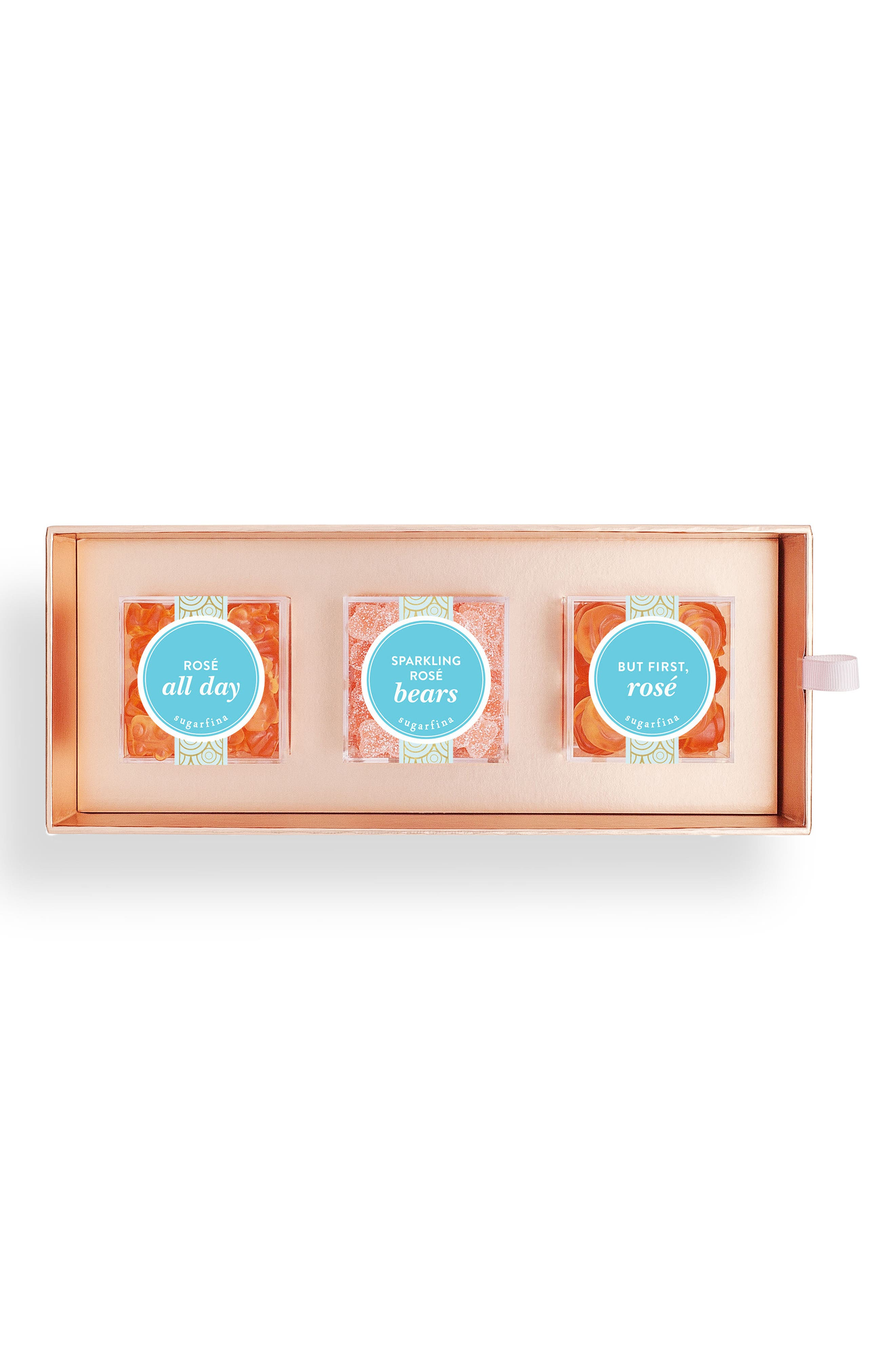 Rosé 3-Piece Candy Bento Box,                         Main,                         color, PINK