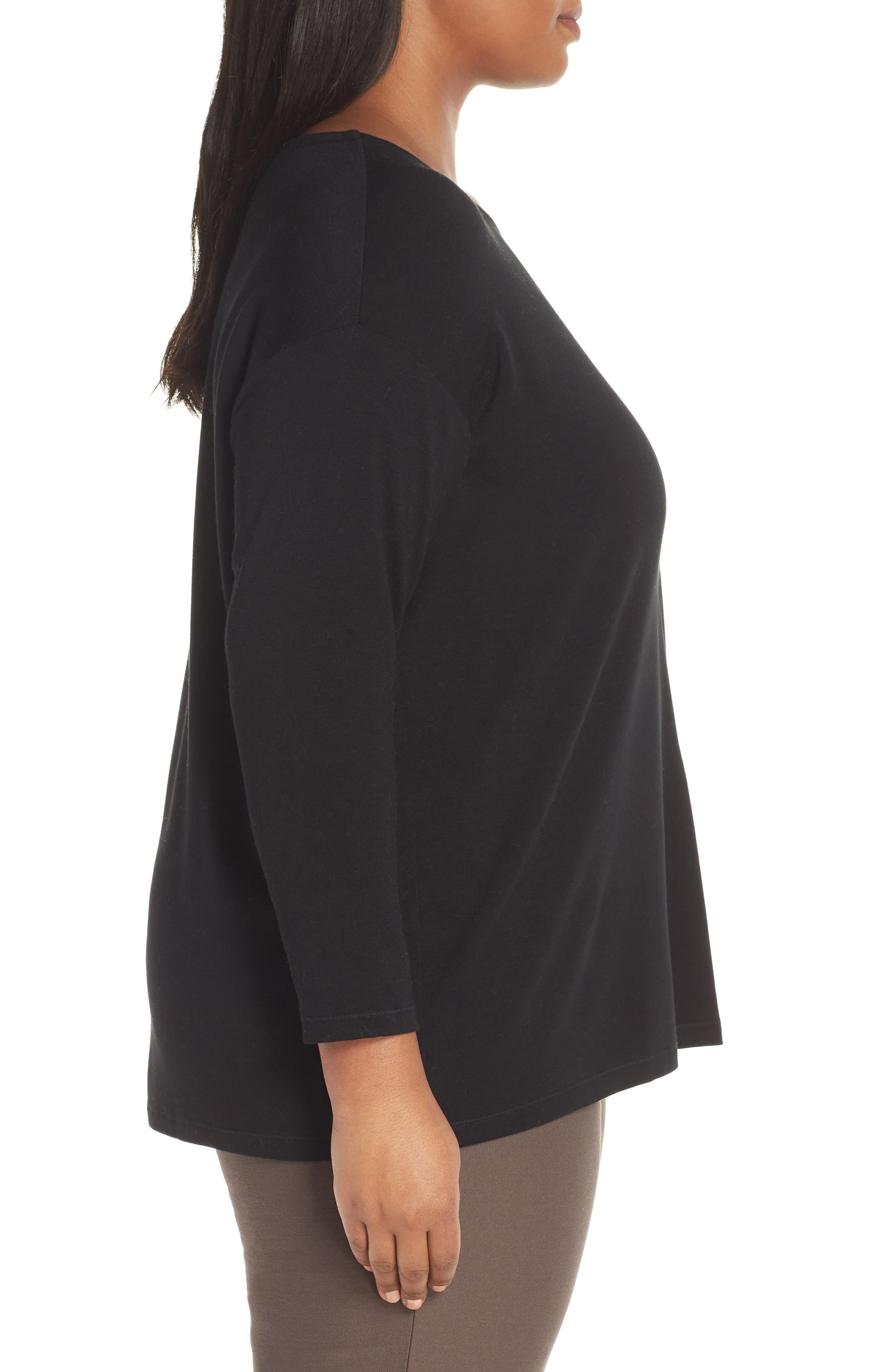 Stretch Terry Top,                             Alternate thumbnail 9, color,                             BLACK
