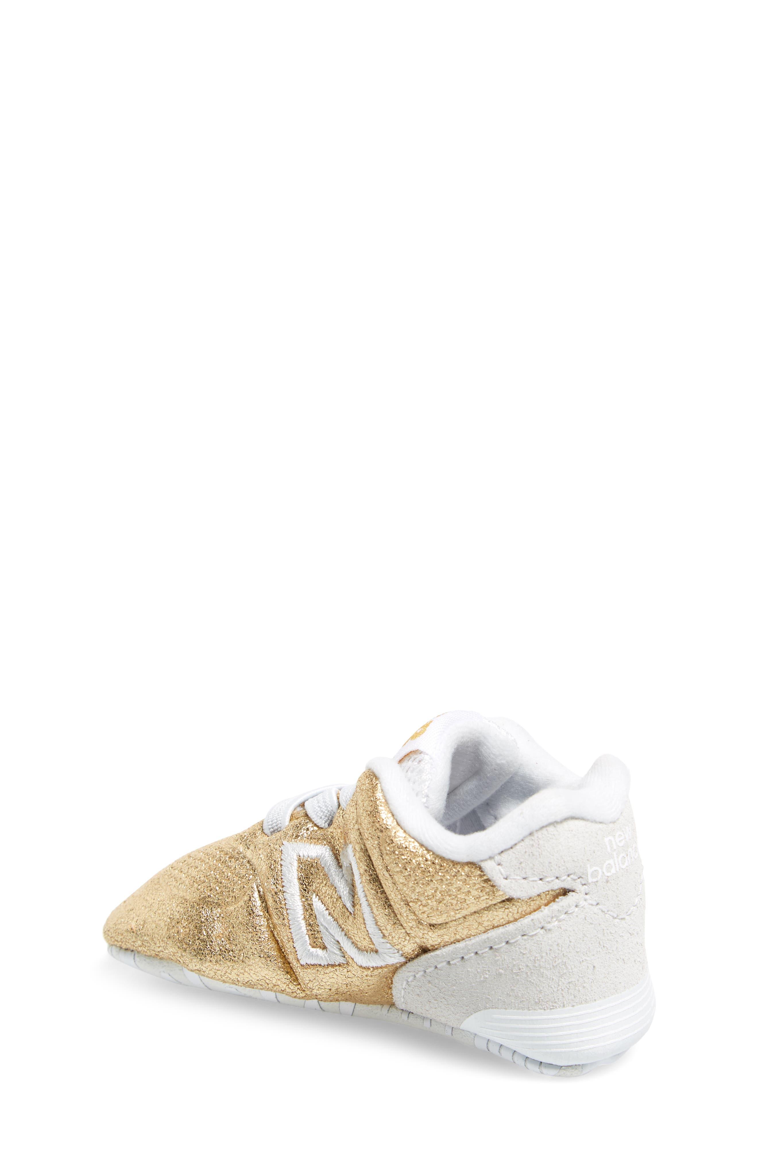 574 Metallic Crib Sneaker,                             Alternate thumbnail 4, color,