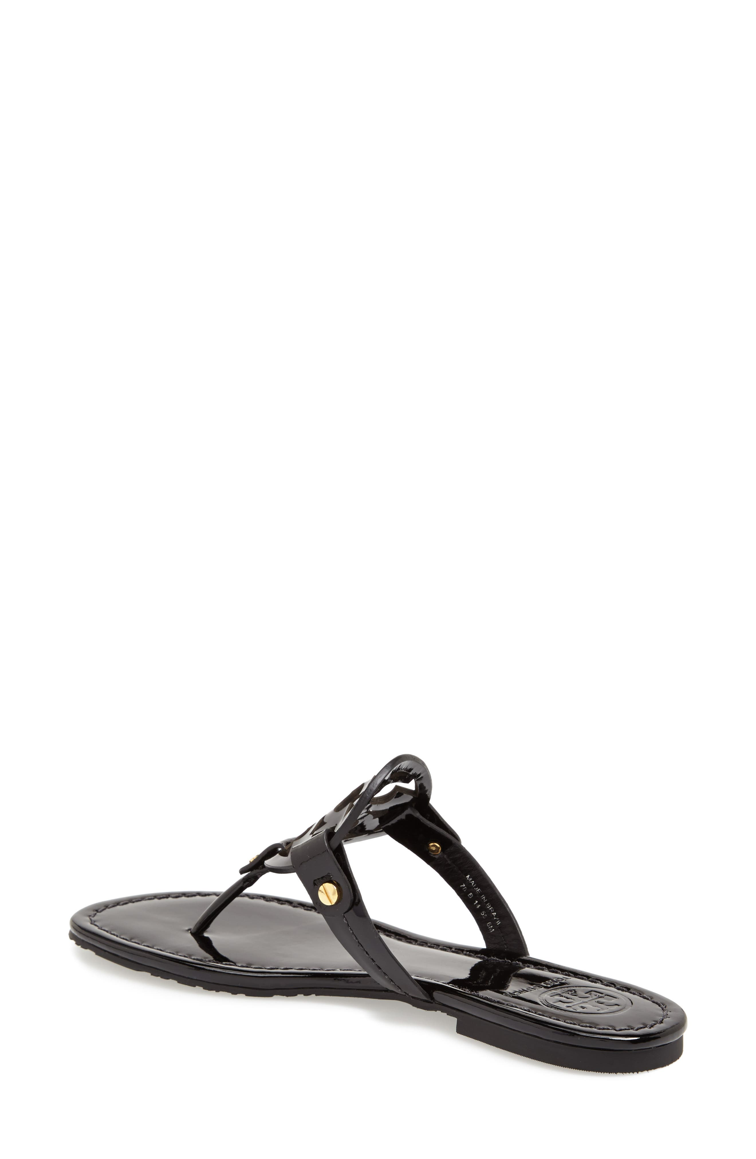 'Miller' Flip Flop,                             Alternate thumbnail 2, color,                             BLACK PATENT