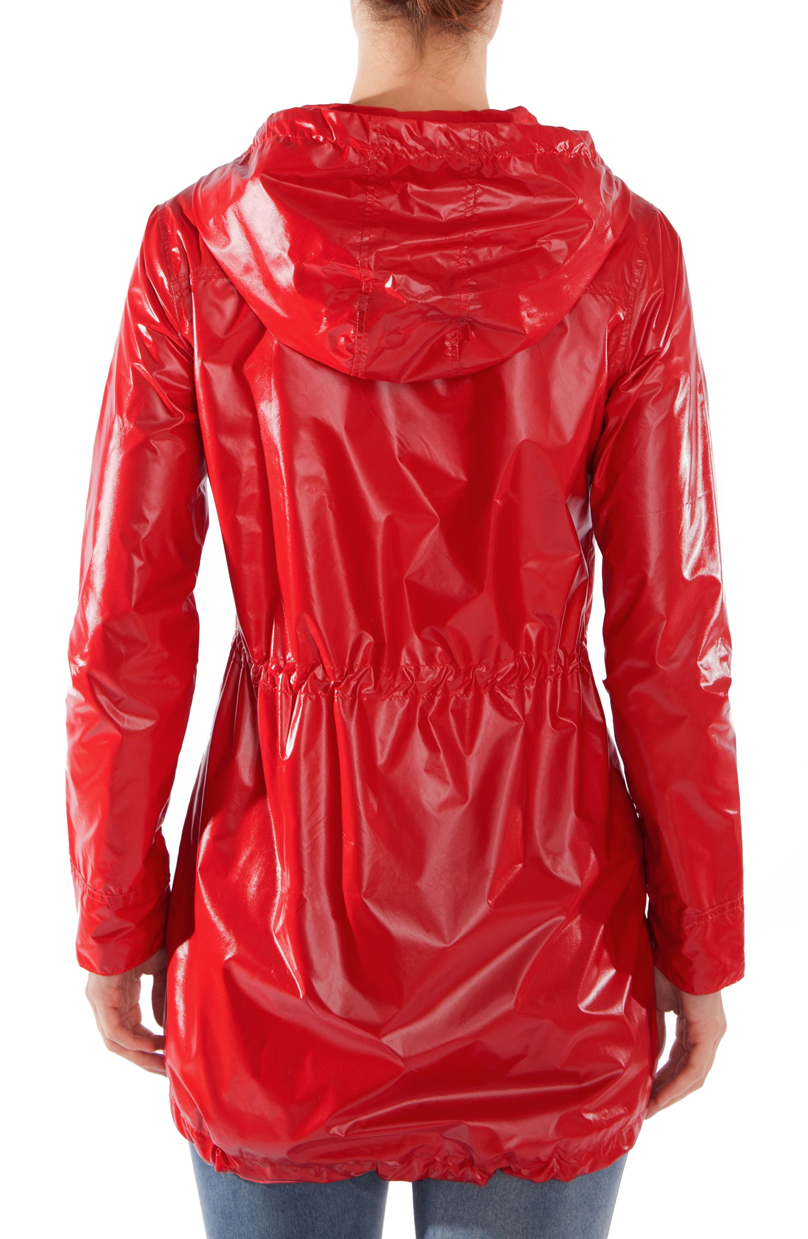 Waterproof Convertible 3-in-1 Maternity Raincoat,                             Alternate thumbnail 4, color,                             BRIGHT NAVY