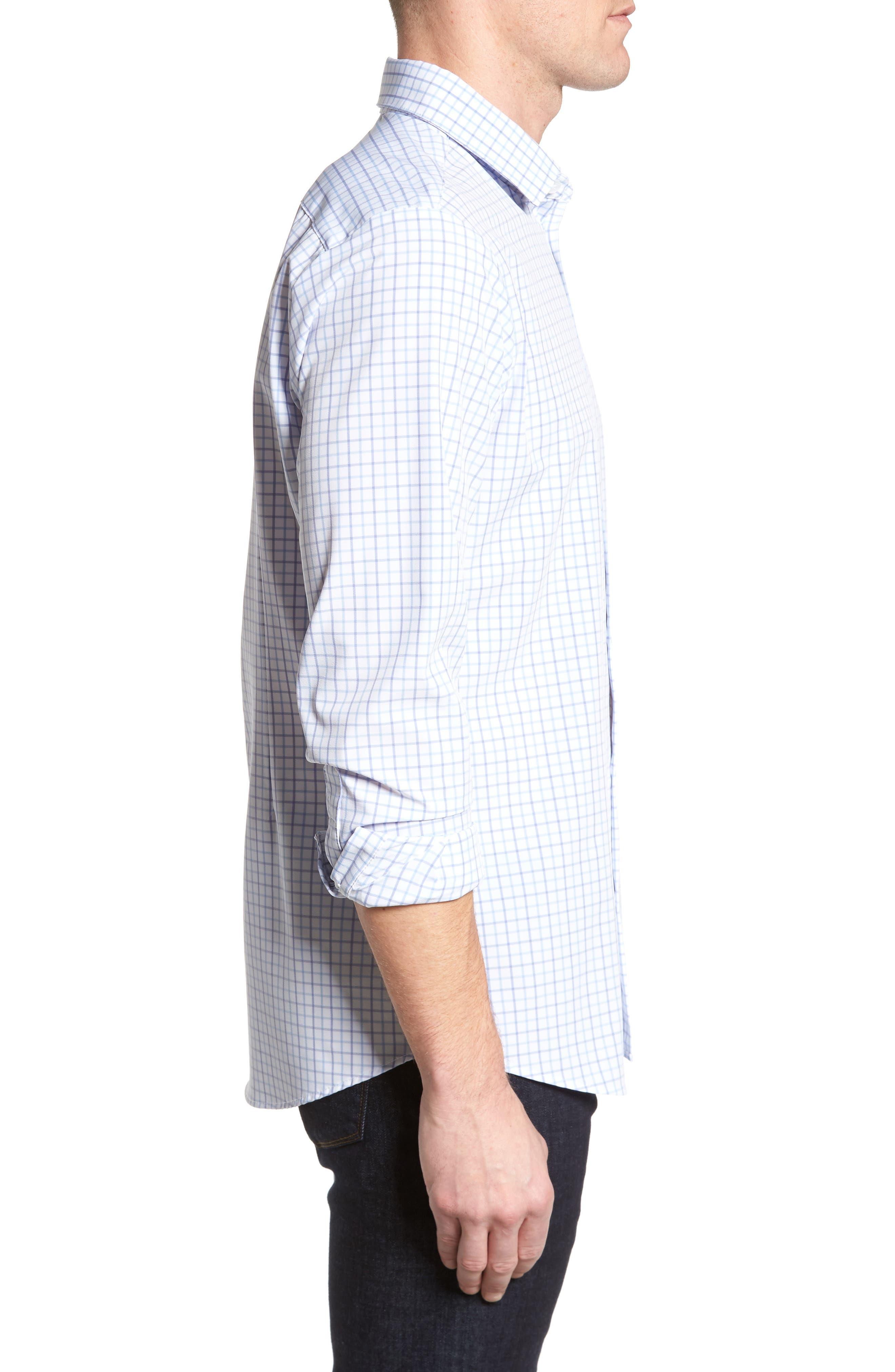 Hallandale Dusty Lavender Check Sport Shirt,                             Alternate thumbnail 3, color,                             160