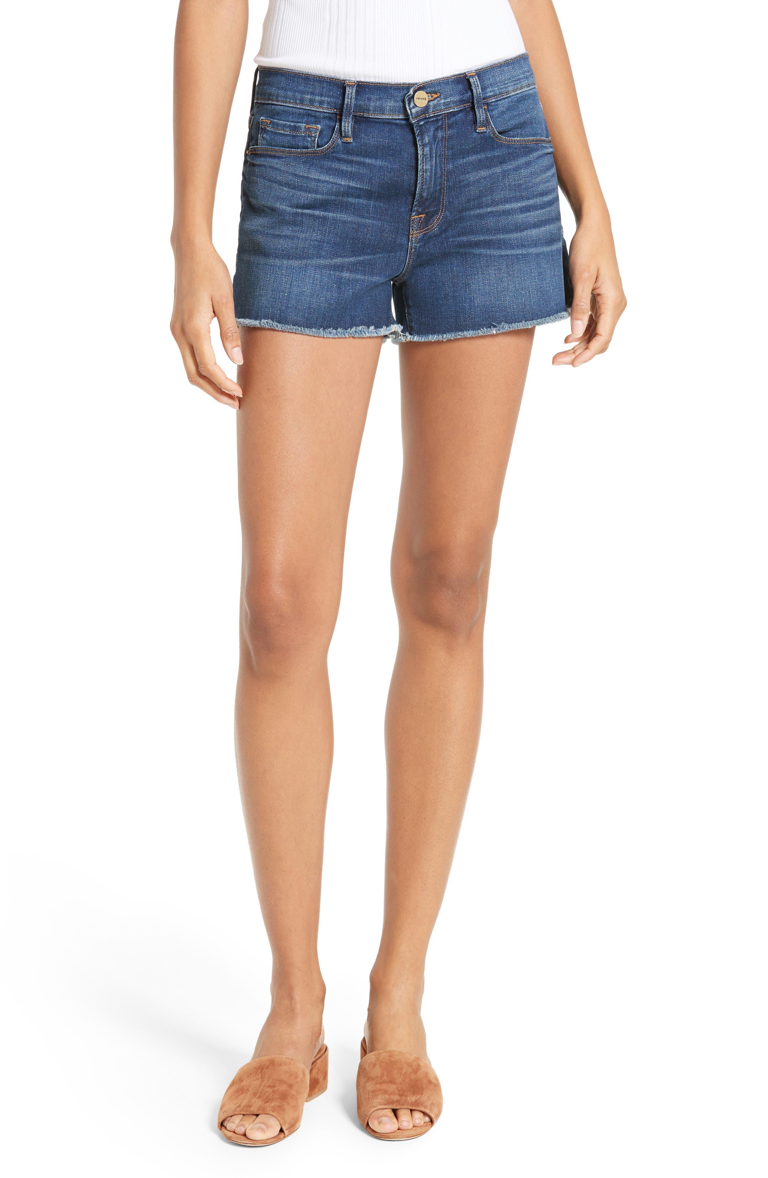 Le Cutoff Denim Shorts,                         Main,                         color, WILLIAMS