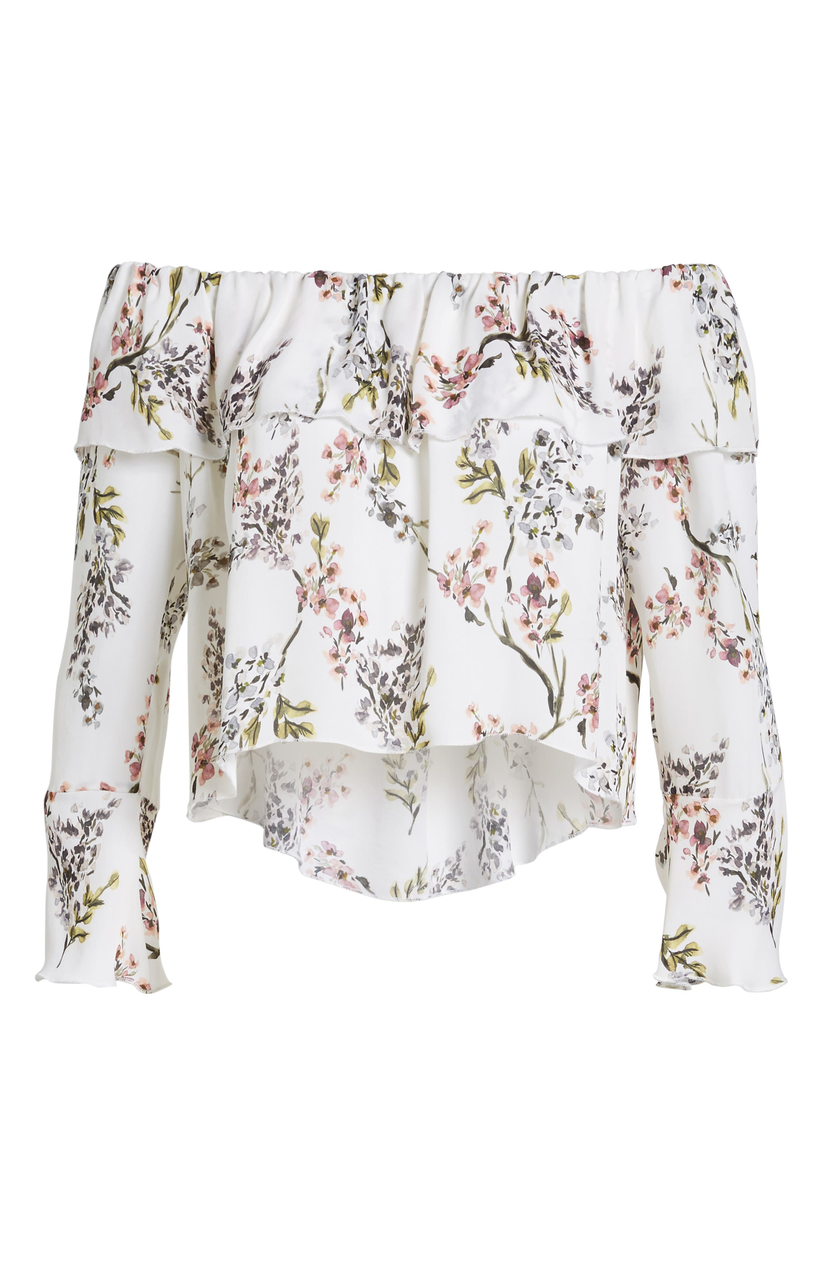 Kennedy Off the Shoulder Blouse,                             Alternate thumbnail 11, color,