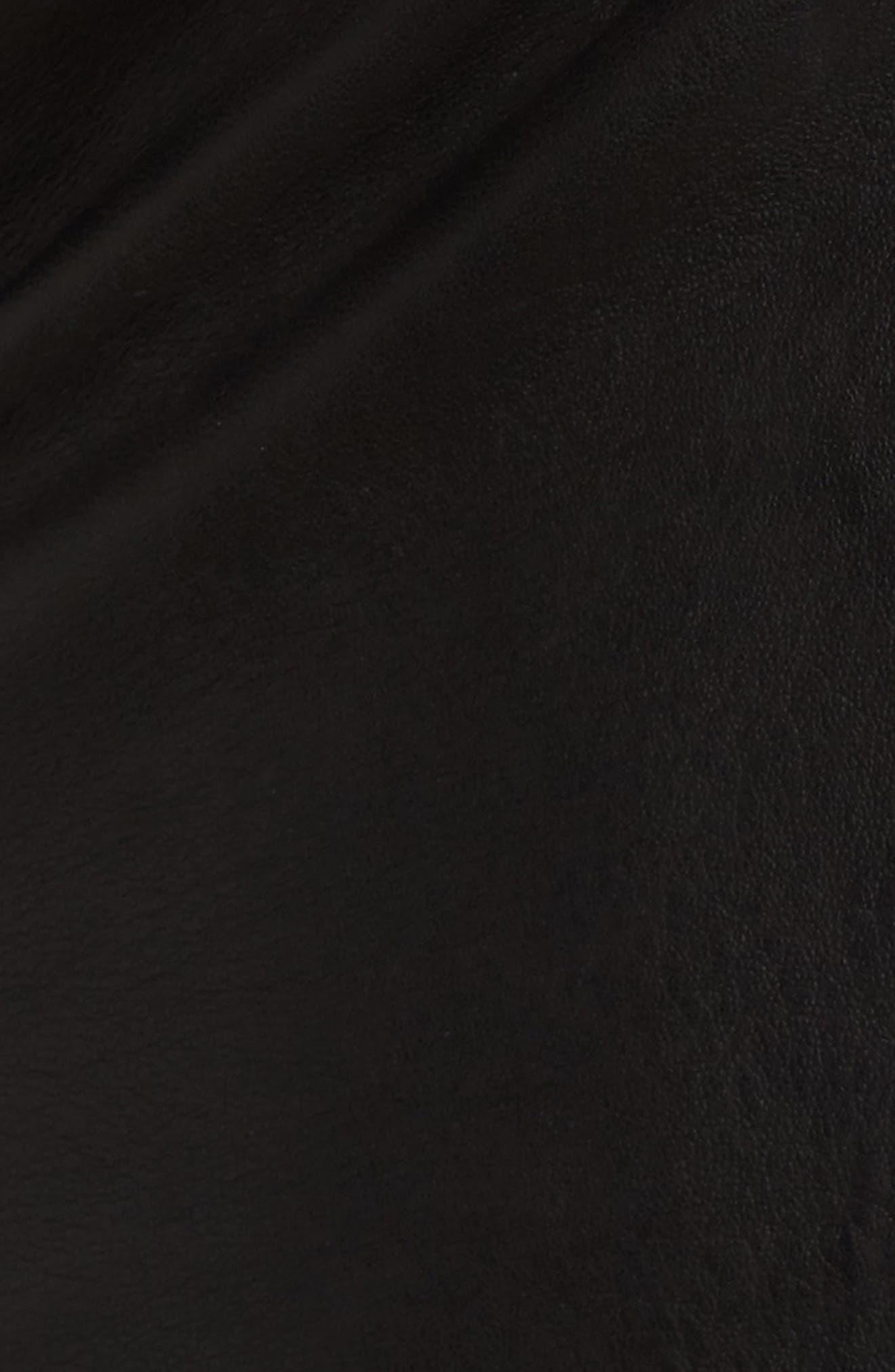 Ebanista Leather Biker Jacket,                             Alternate thumbnail 6, color,                             001