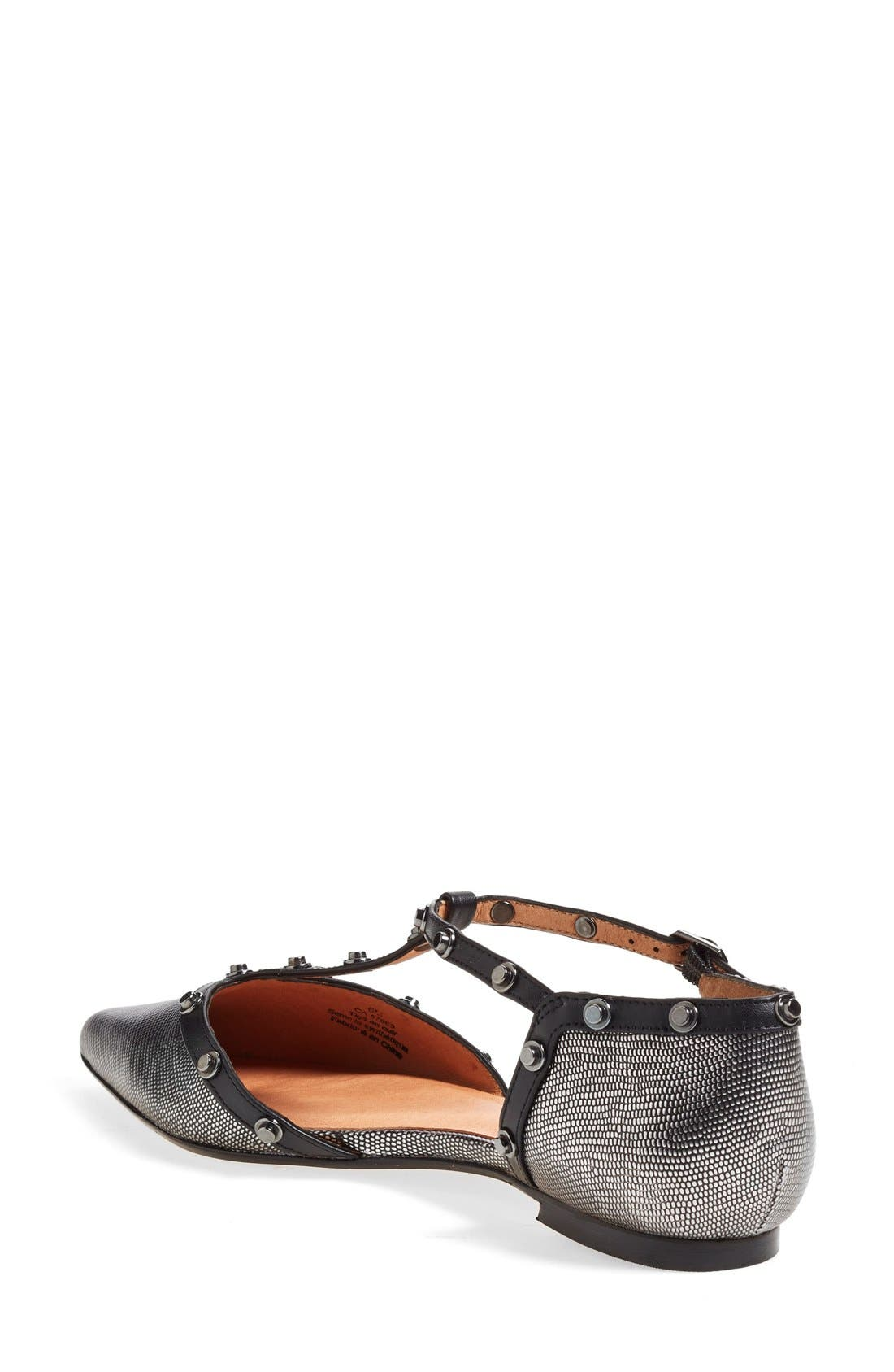 'Olson' Pointy Toe Studded T-Strap Flat,                             Alternate thumbnail 22, color,