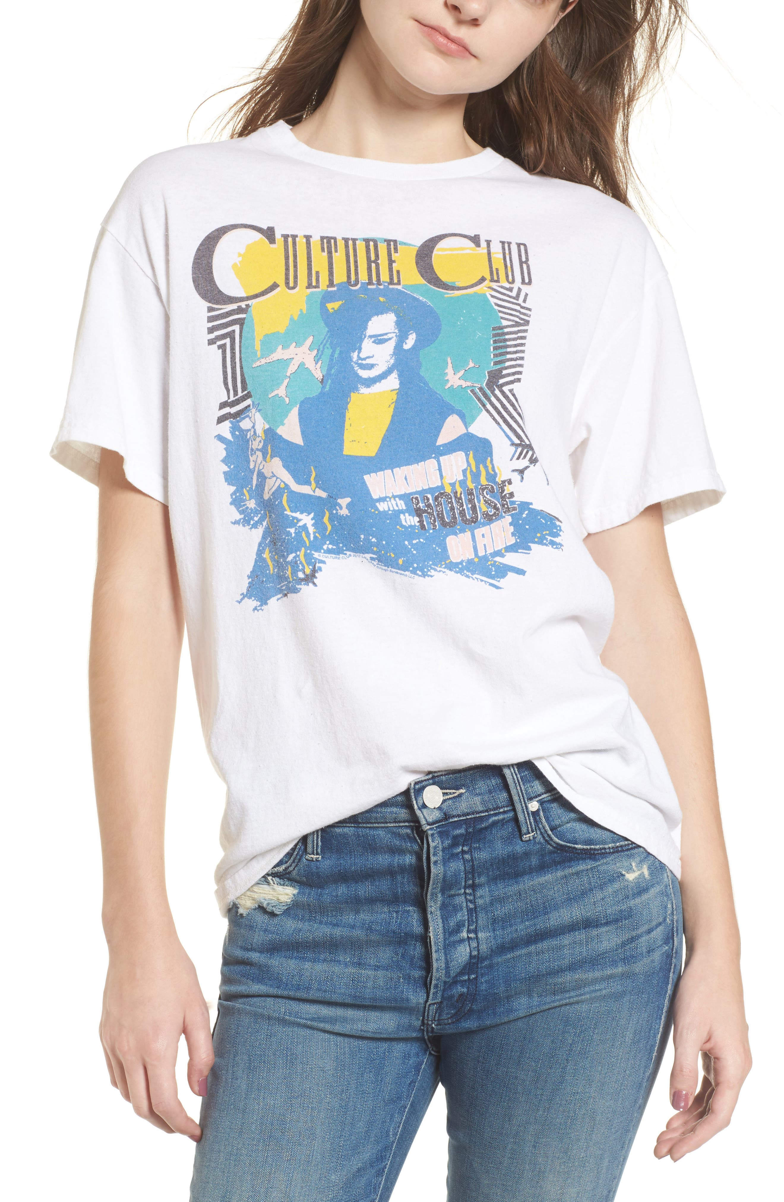 JUNK FOOD Culture Club Tee, Main, color, 110