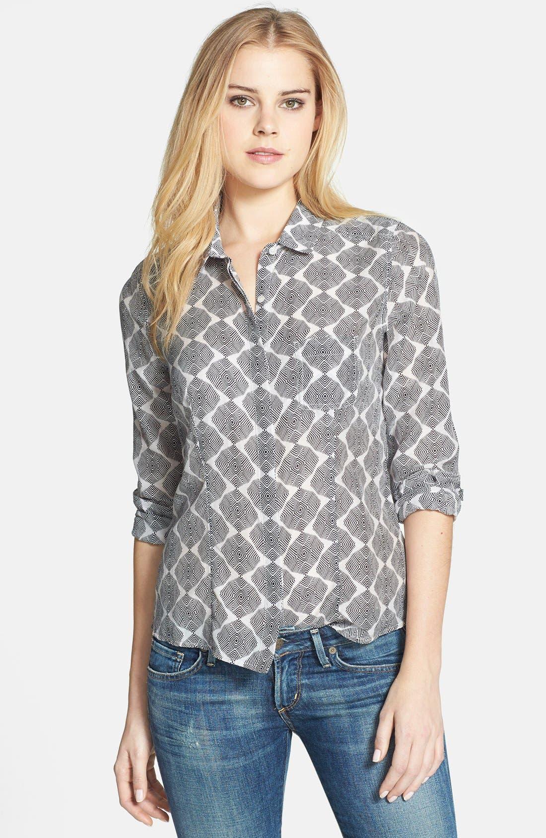 Cotton & Silk Shirt,                             Main thumbnail 40, color,