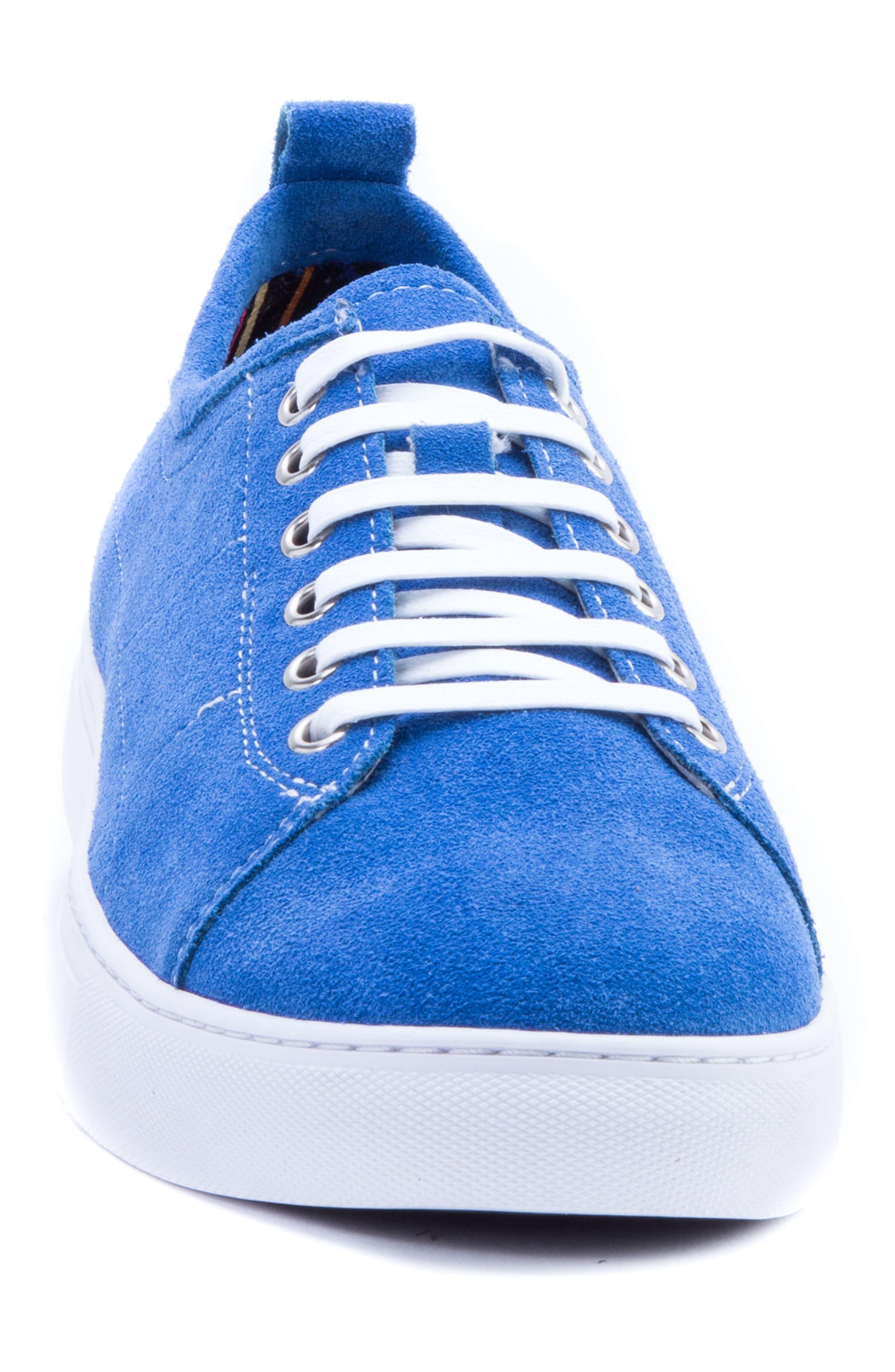 Ernesto Low Top Sneaker,                             Alternate thumbnail 4, color,                             ROYAL SUEDE