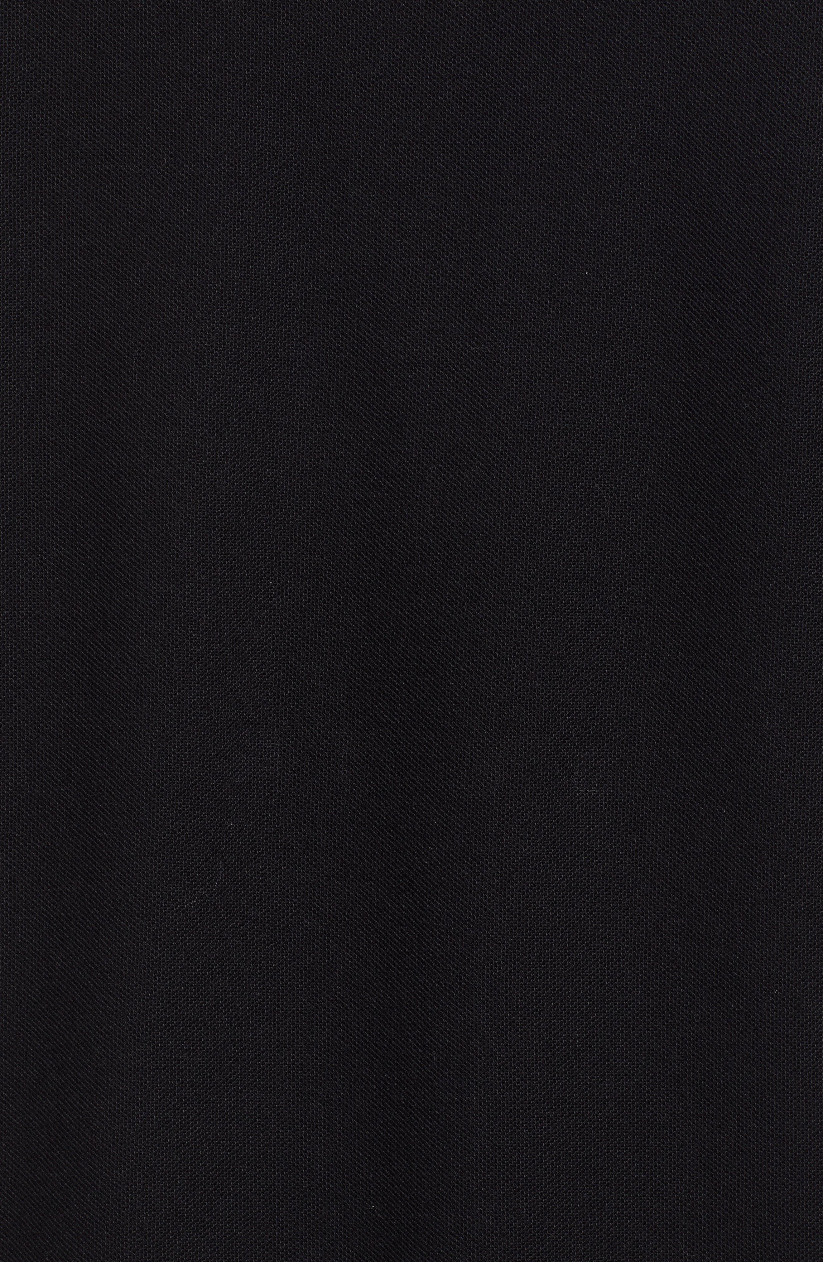 Monogram Piqué Polo,                             Alternate thumbnail 5, color,                             BLACK