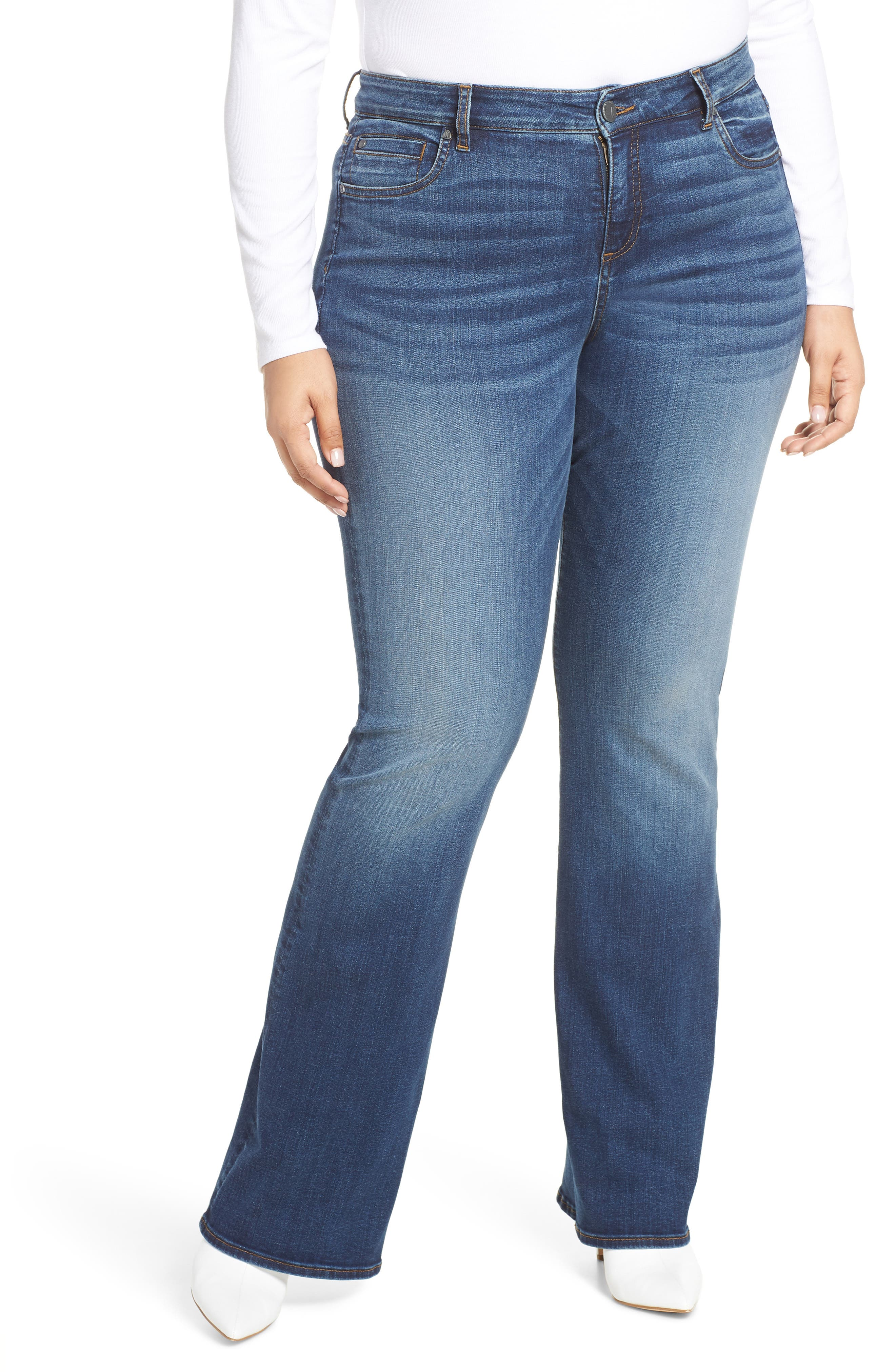 Plus Size Kut From The Kloth Natalie Bootleg Jeans, Blue