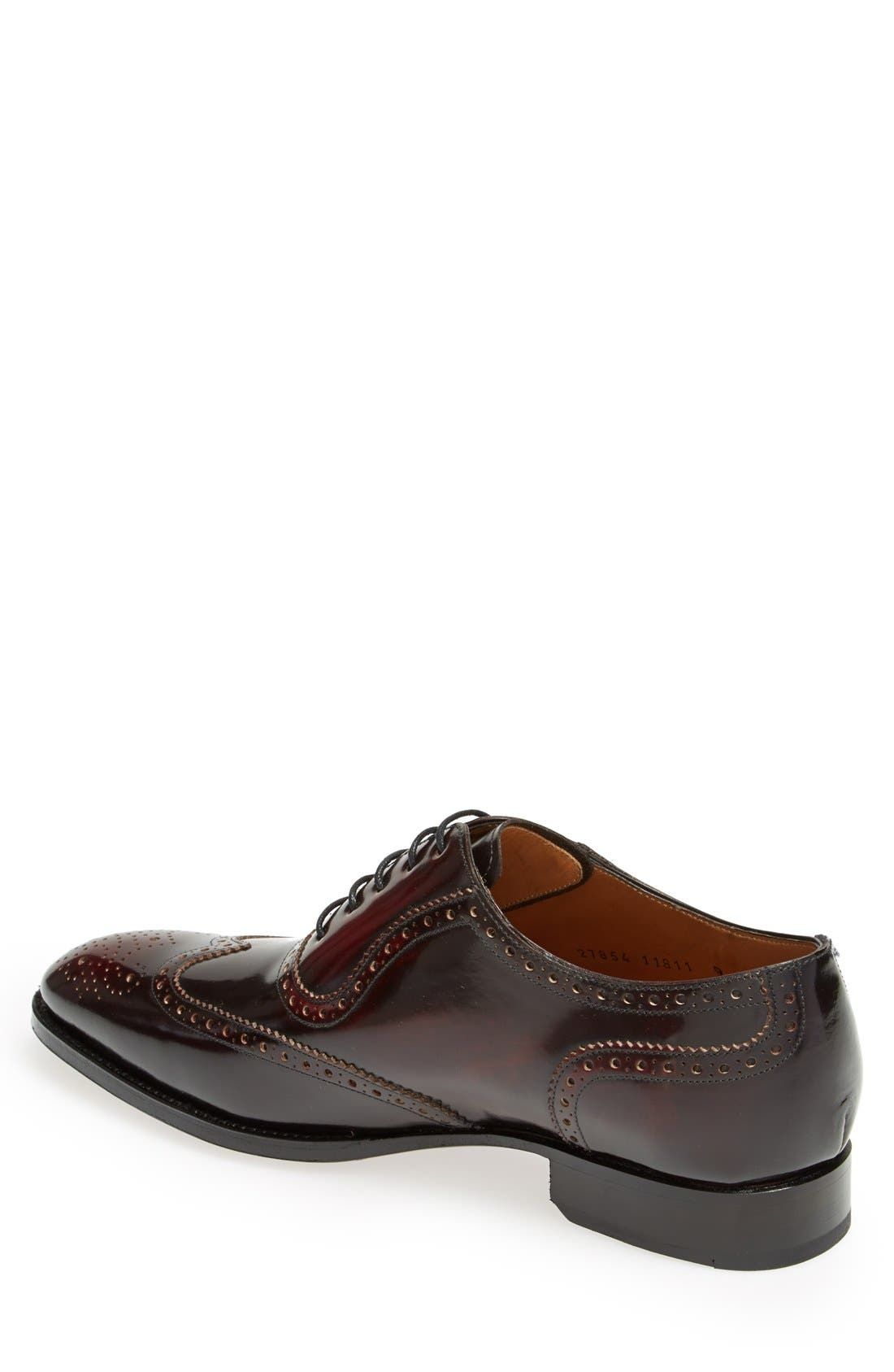 'Wexford' Wingtip,                             Alternate thumbnail 2, color,                             BORDEAUX