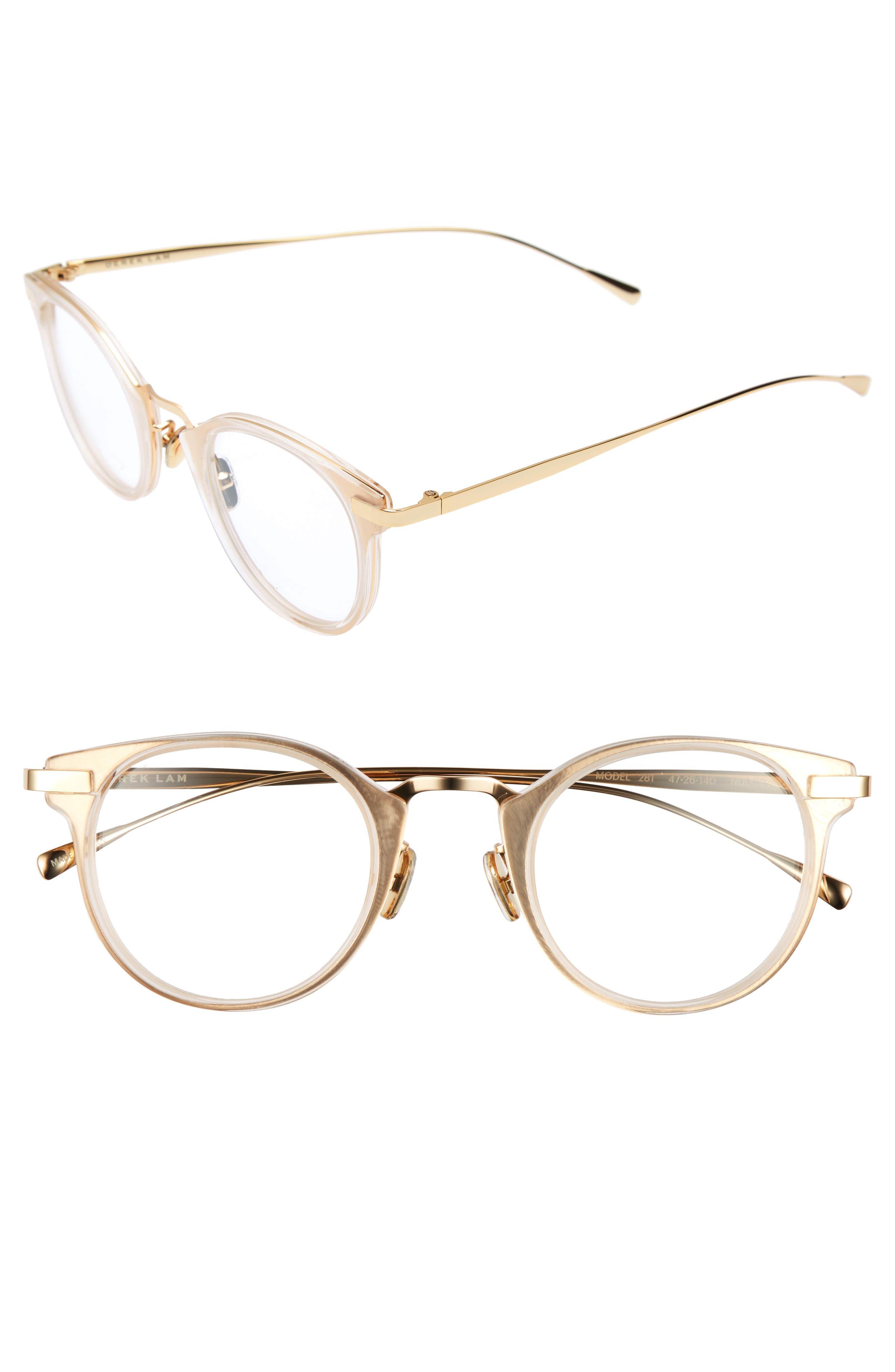 47mm Optical Glasses,                             Main thumbnail 1, color,                             NUDE CRYSTAL