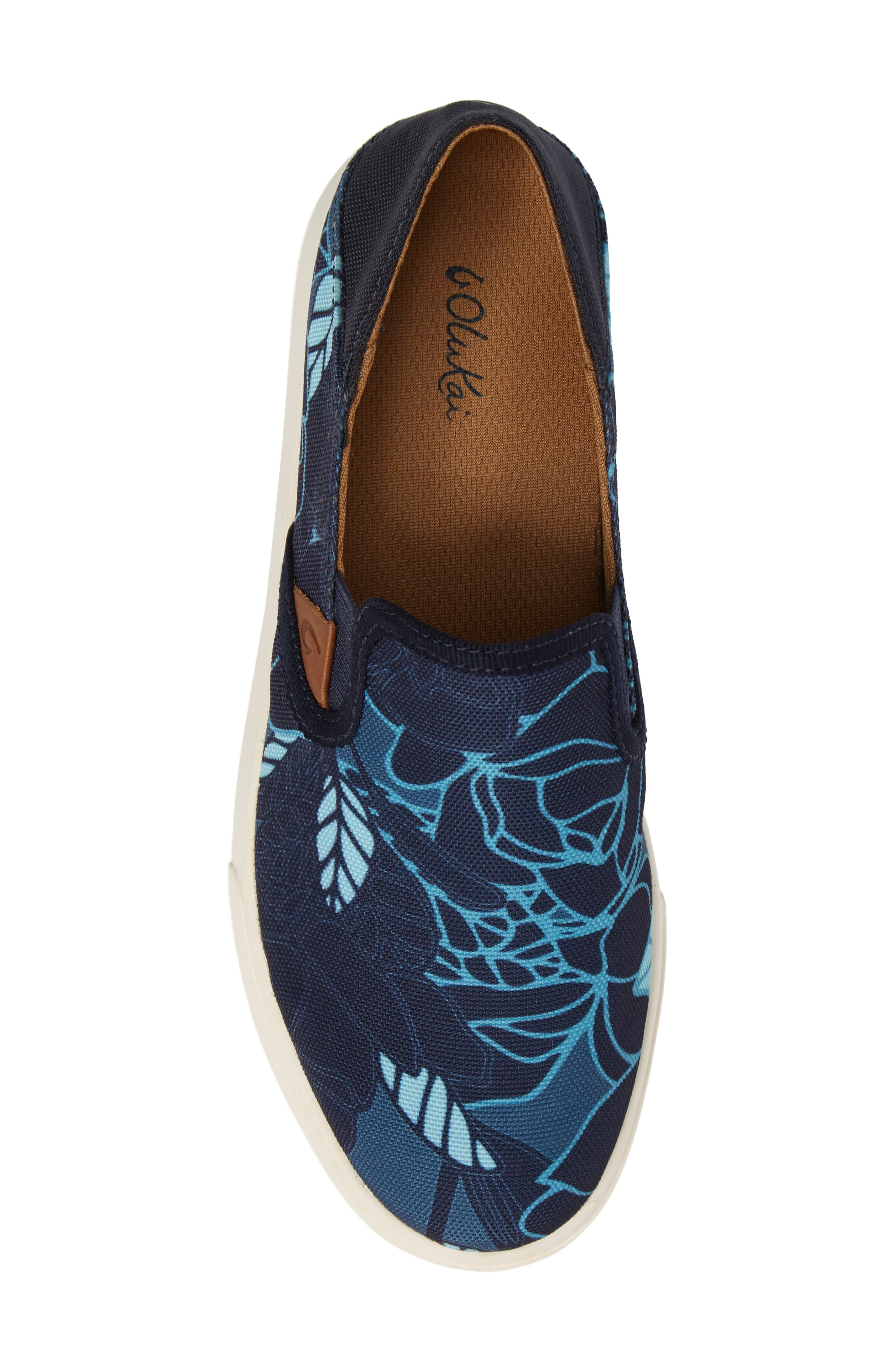 Pehuea Print Slip-On Sneaker,                             Alternate thumbnail 5, color,                             TRENCH BLUE/ STORMY BLUE