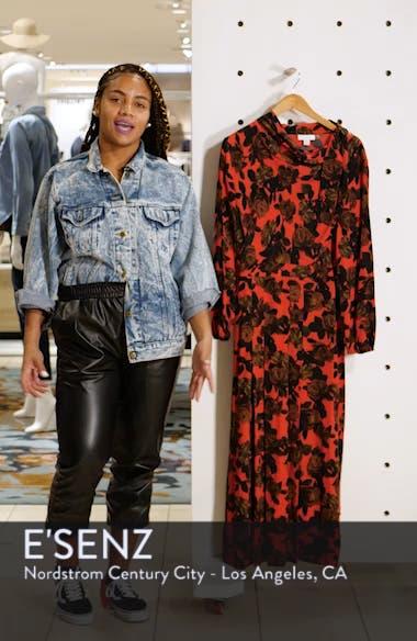 Rose Cut Tie Neck Midi Dress, sales video thumbnail