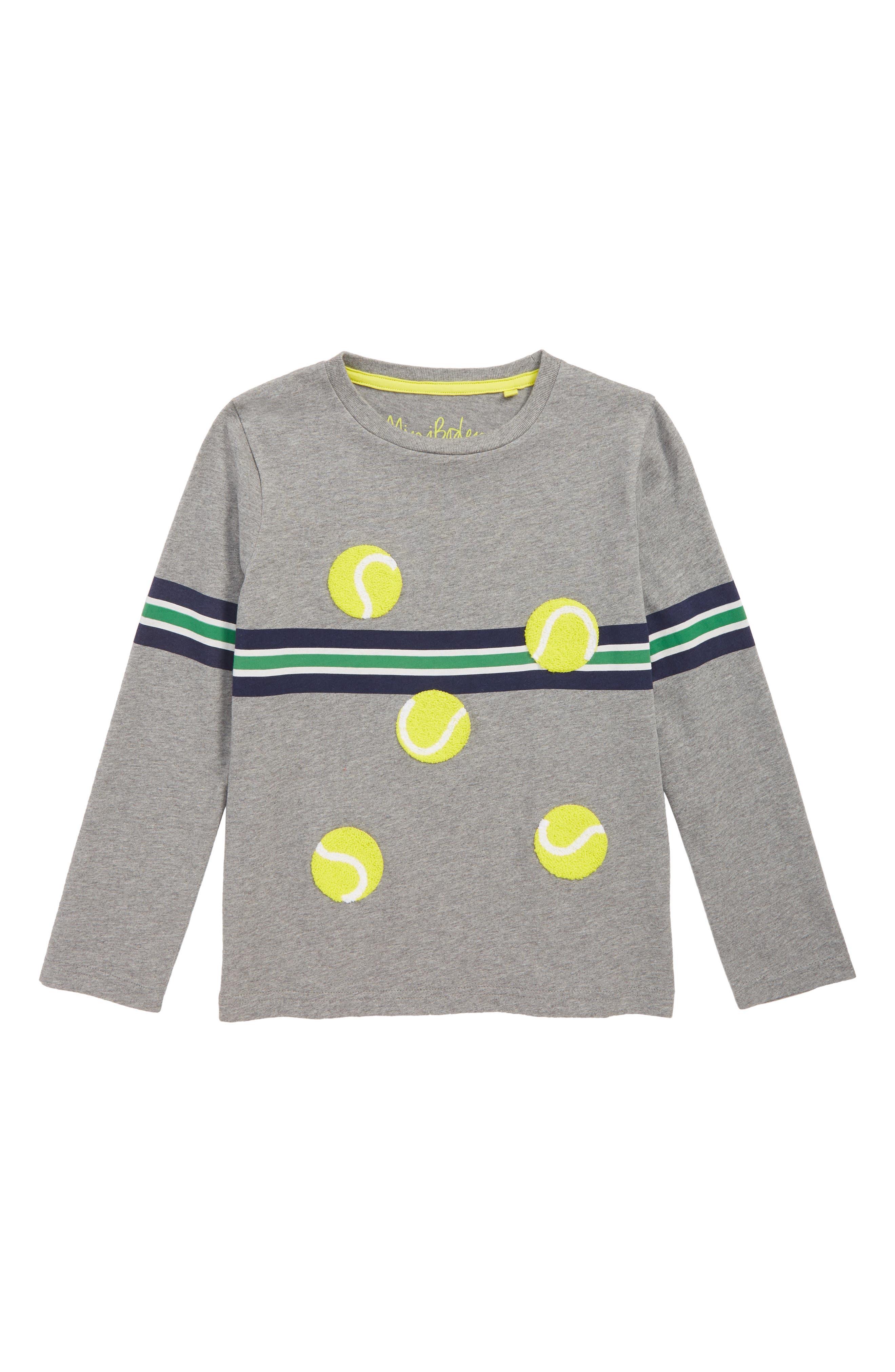 Stripy Tennis Sports T-Shirt,                             Main thumbnail 1, color,                             054