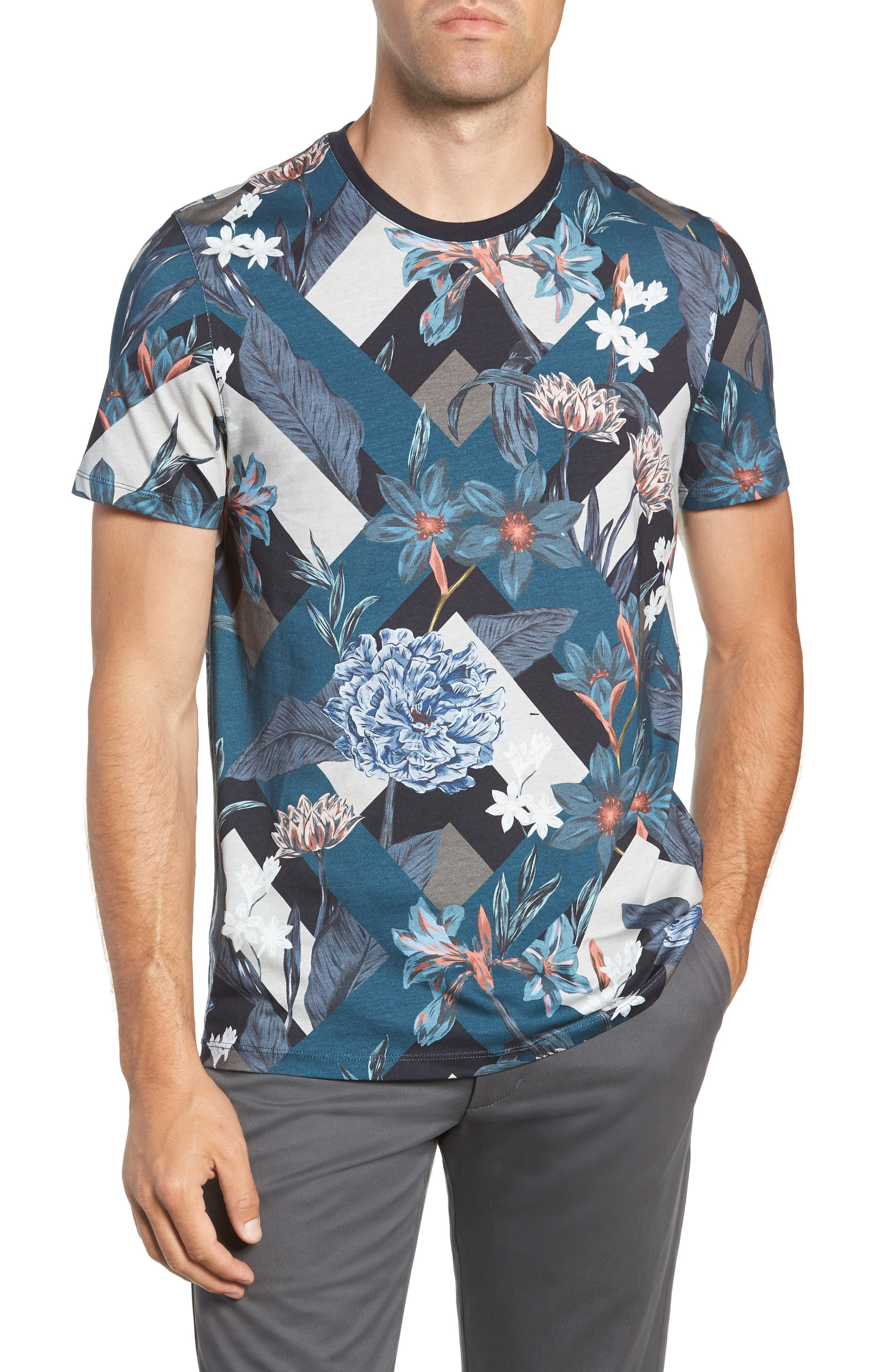 Jolly Slim Fit T-Shirt,                         Main,                         color, NAVY