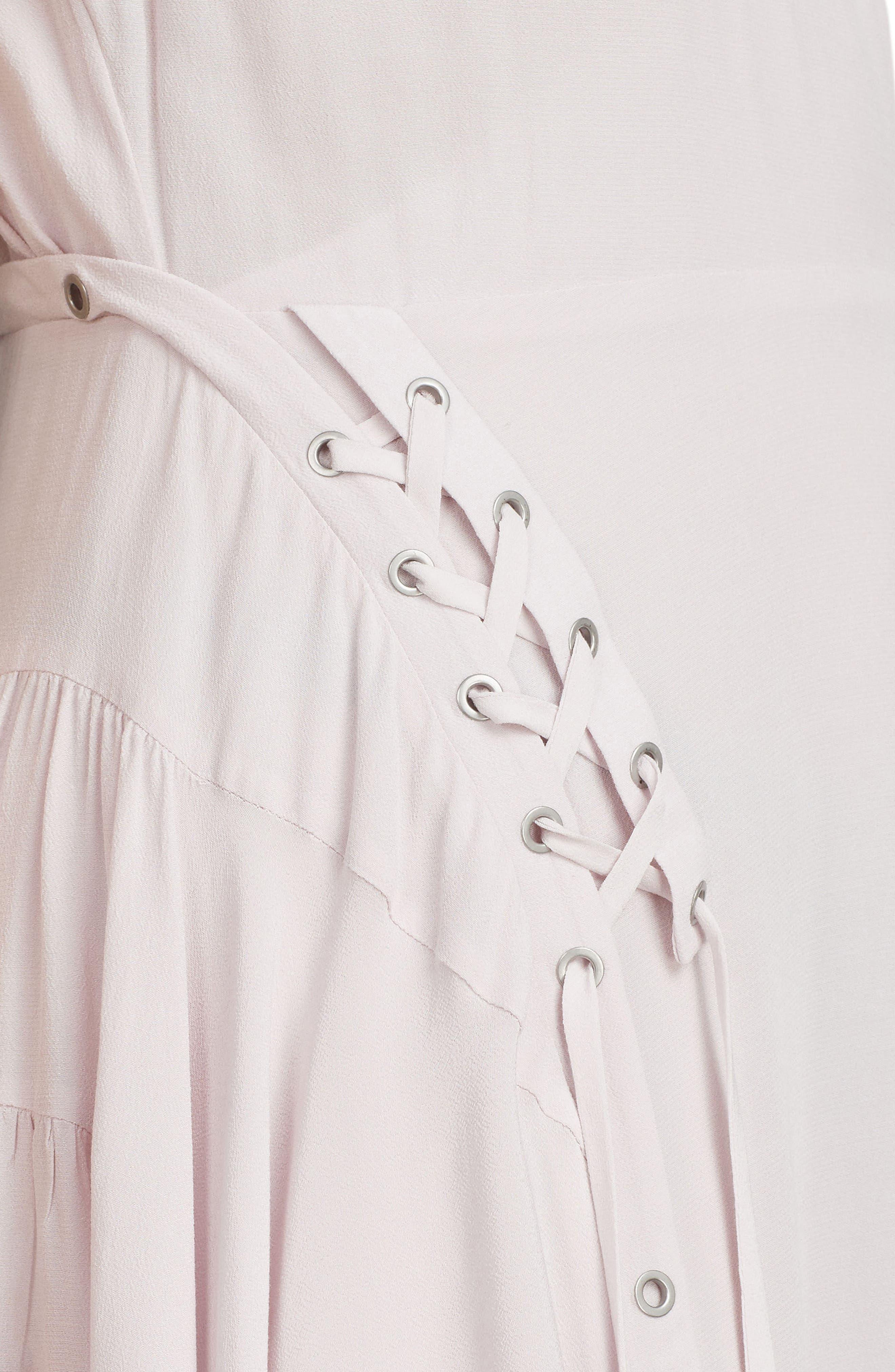 Miller Lace-Up Dress,                             Alternate thumbnail 5, color,                             691