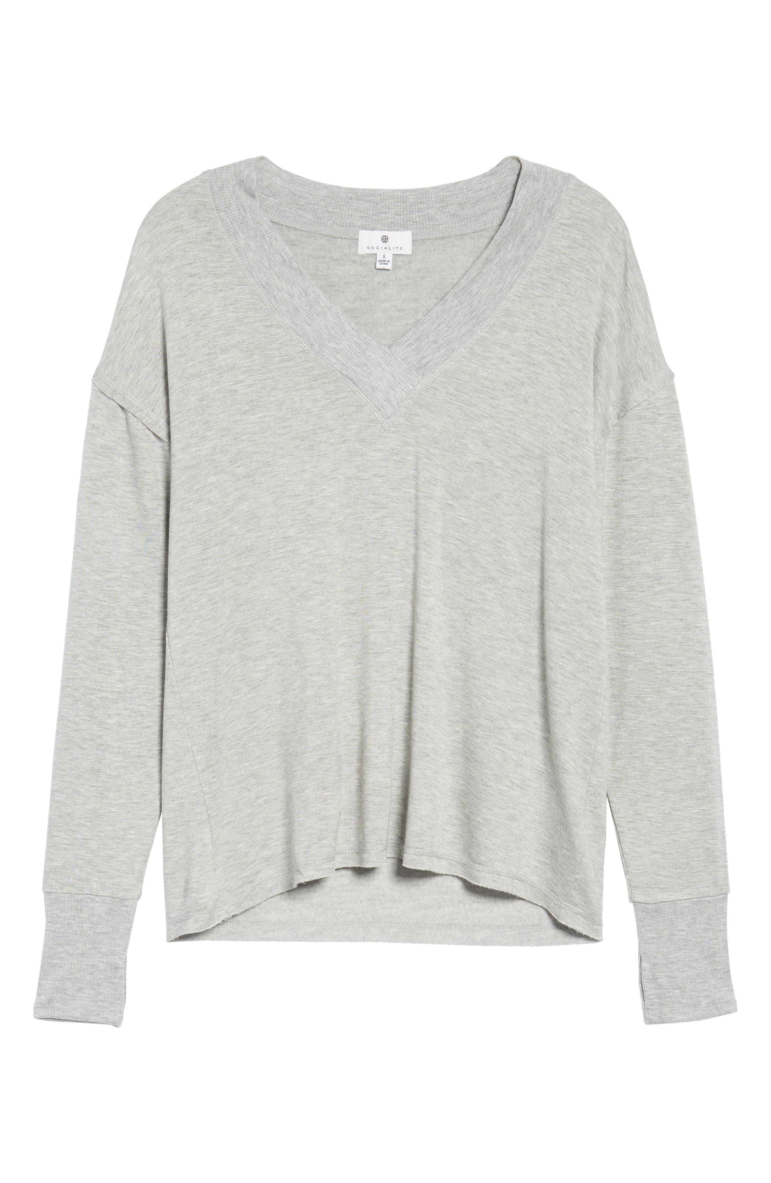 Thumbhole Cuff Sweater,                             Alternate thumbnail 6, color,                             020