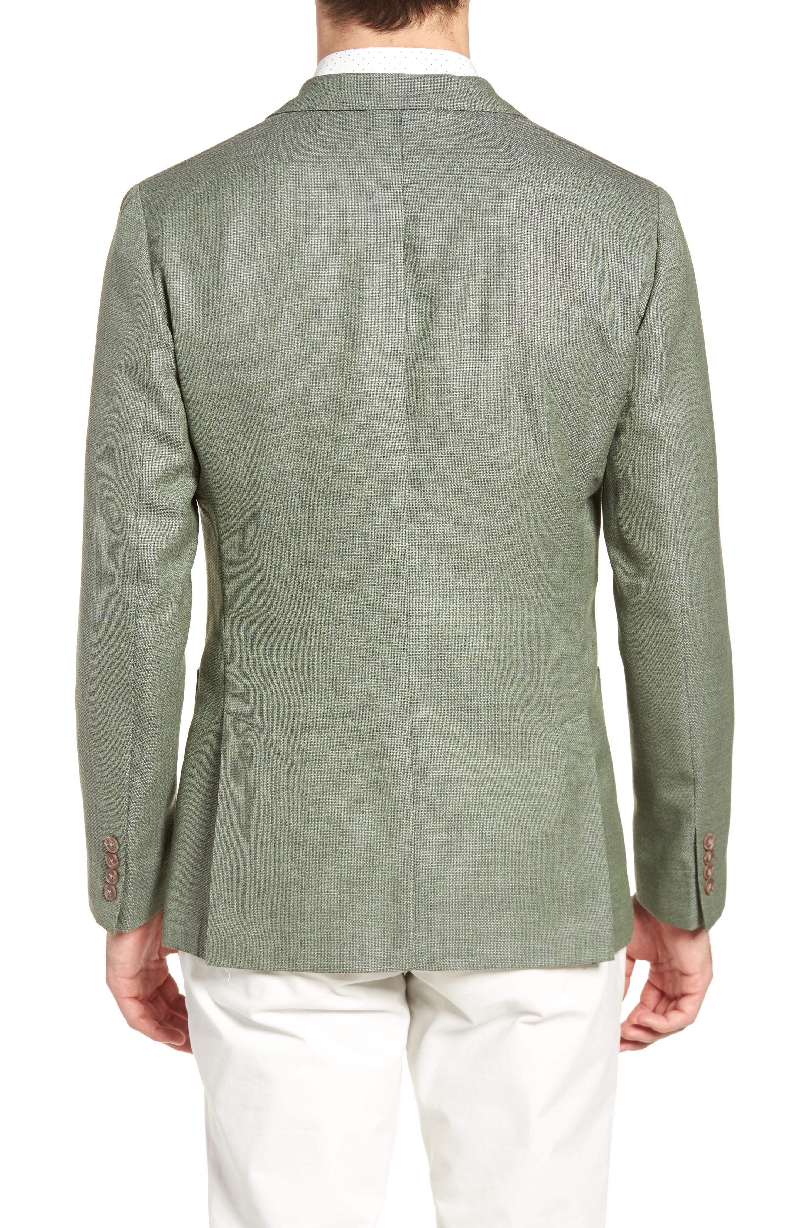 Trim Fit Wool Unconstructed Blazer,                             Alternate thumbnail 4, color,