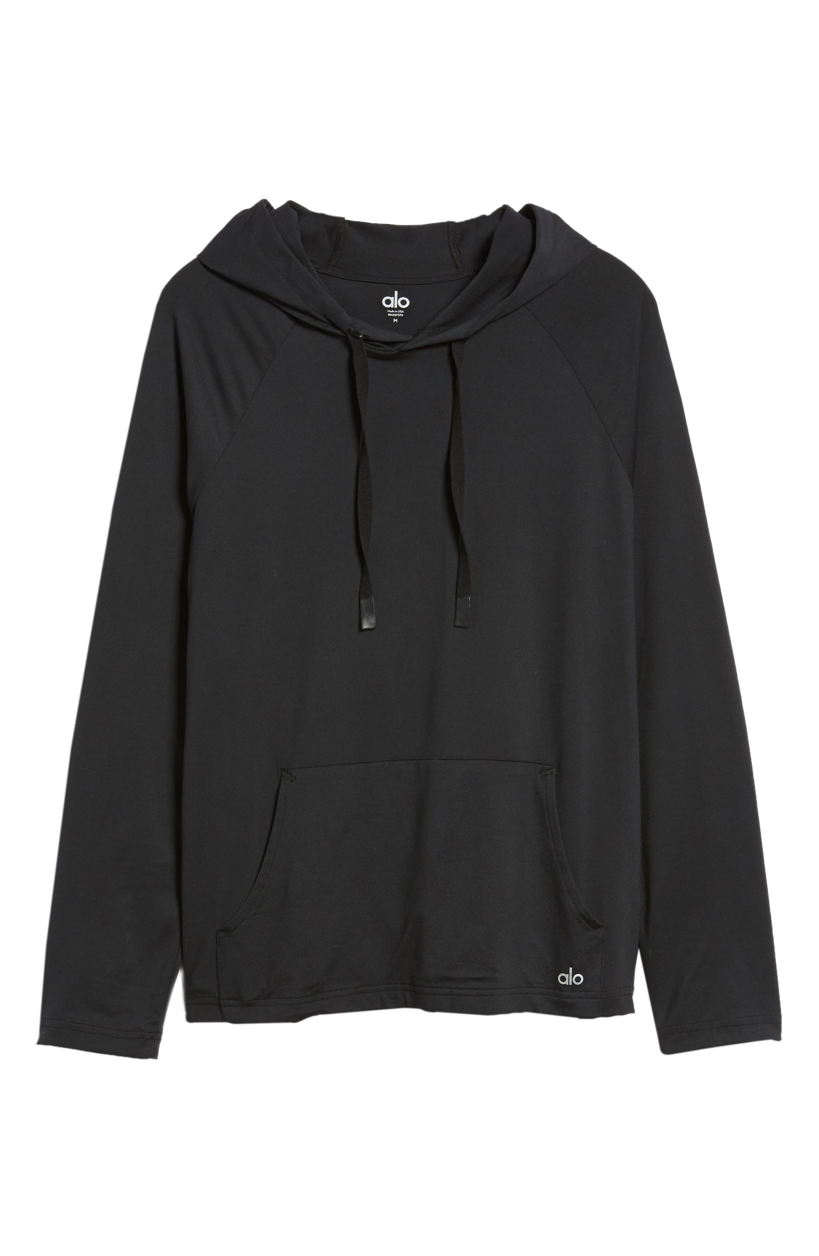 Conquer Hoodie,                             Alternate thumbnail 6, color,                             BLACK SOLID
