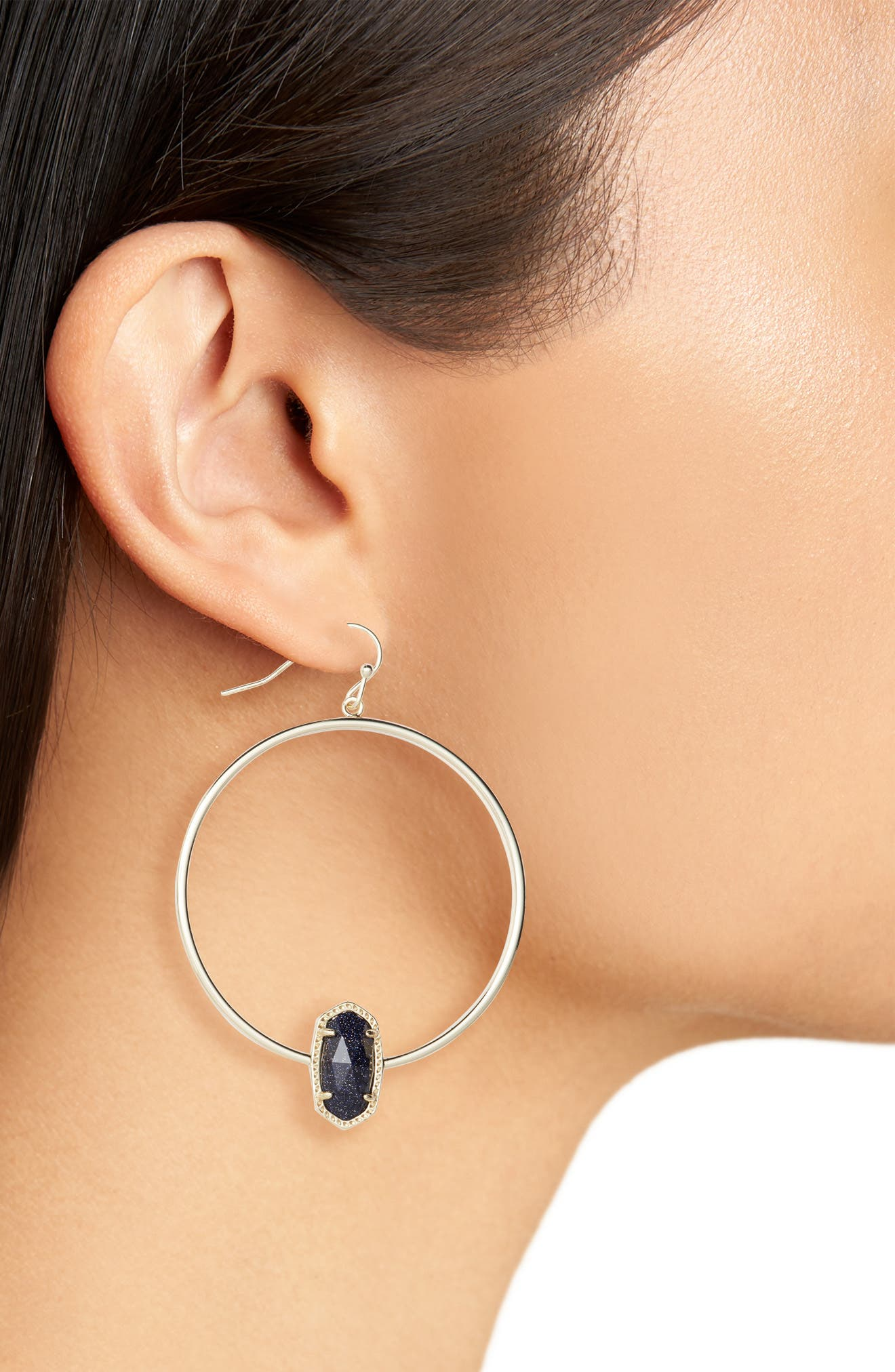 Elora Frontal Hoop Earrings,                             Alternate thumbnail 29, color,