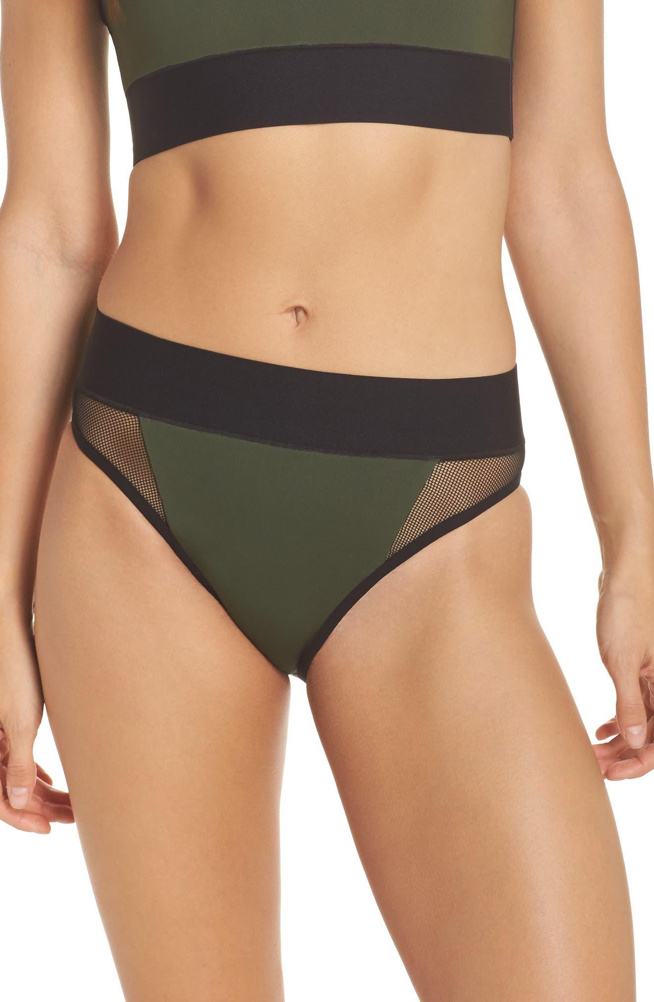 Reef Sport Mesh High-Waist Bikini Bottoms,                         Main,                         color, 302