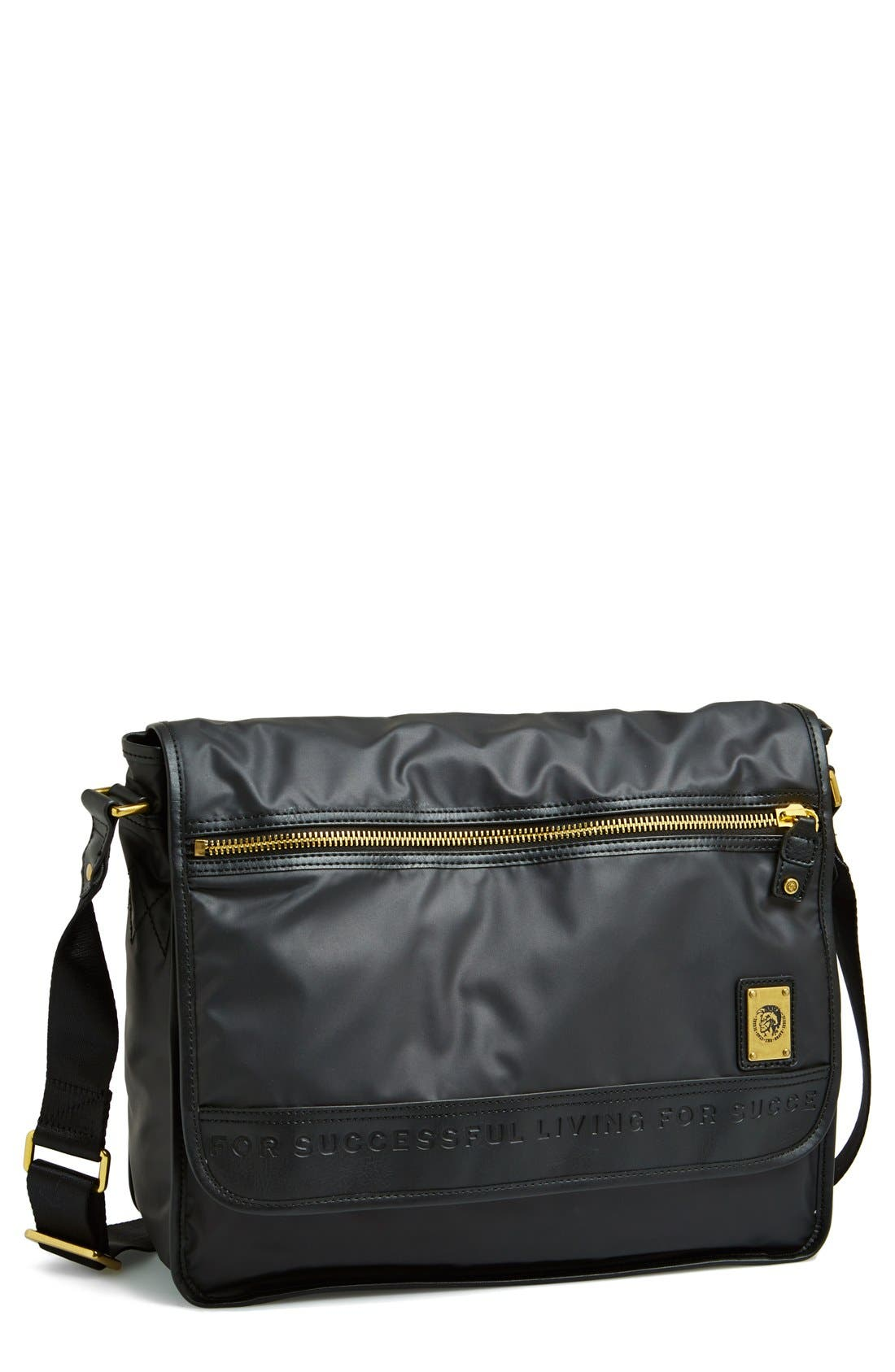 DIESEL<SUP>®</SUP>,                             'On The Road' Messenger Bag,                             Main thumbnail 1, color,                             001